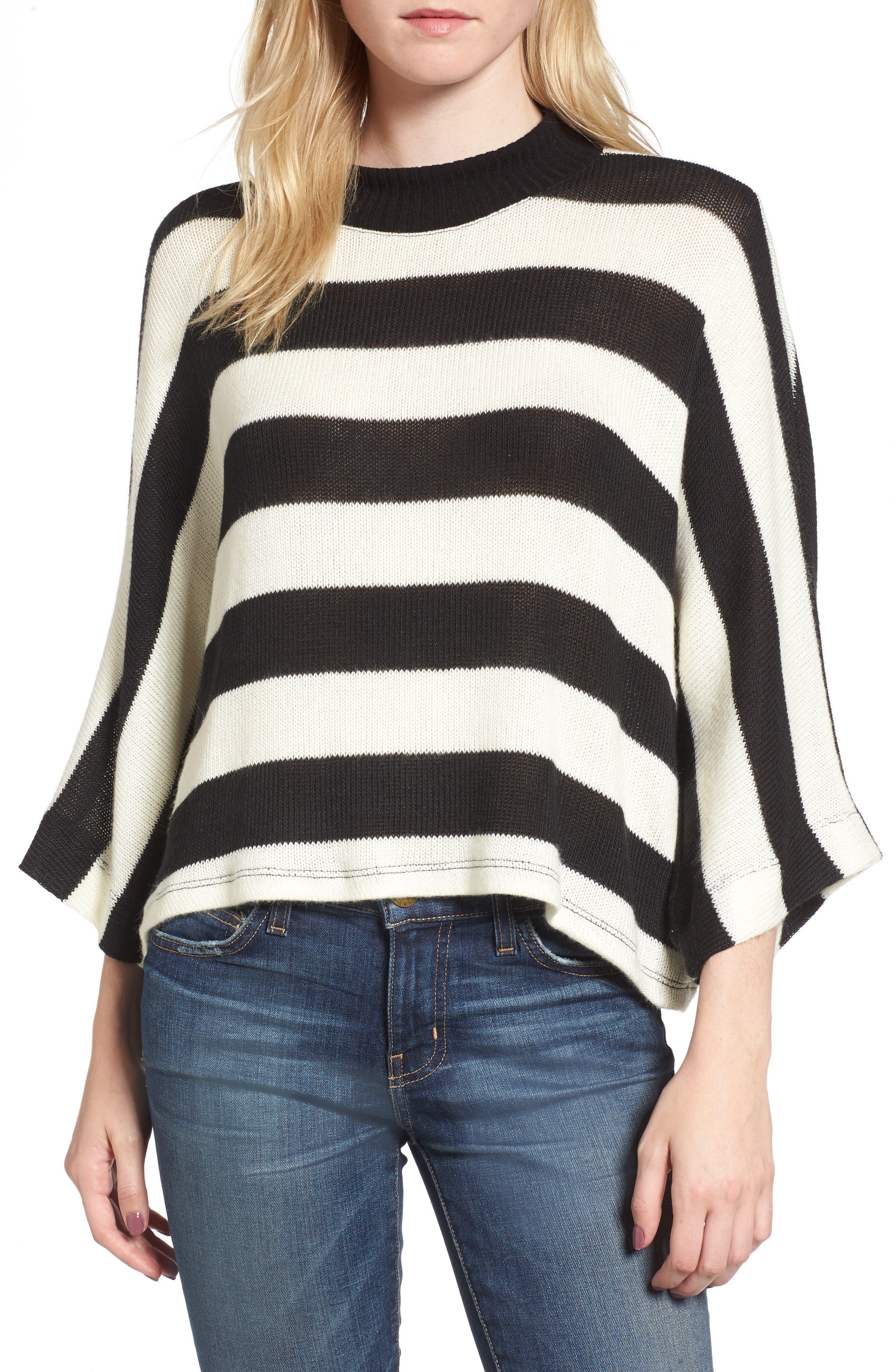 Kingston Stripe Sweater,                         Main,                         color, Black/ Offwhite