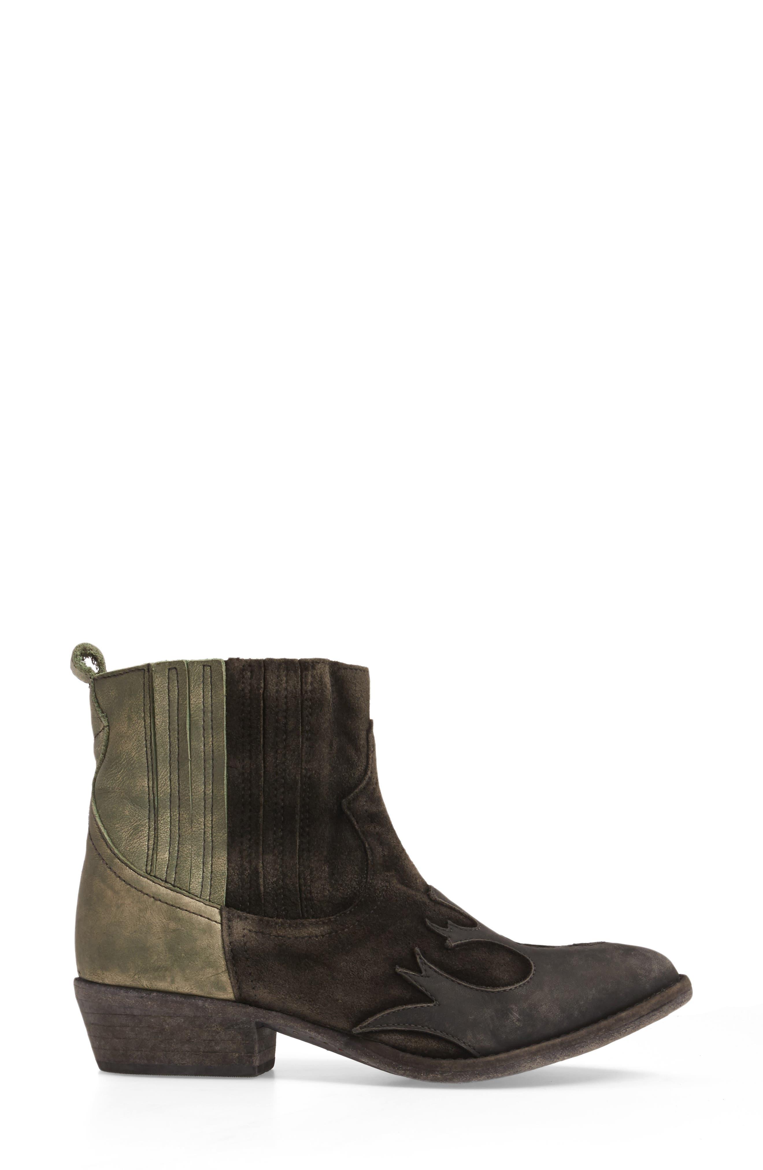 Royston Bootie,                             Alternate thumbnail 3, color,                             Black Leather