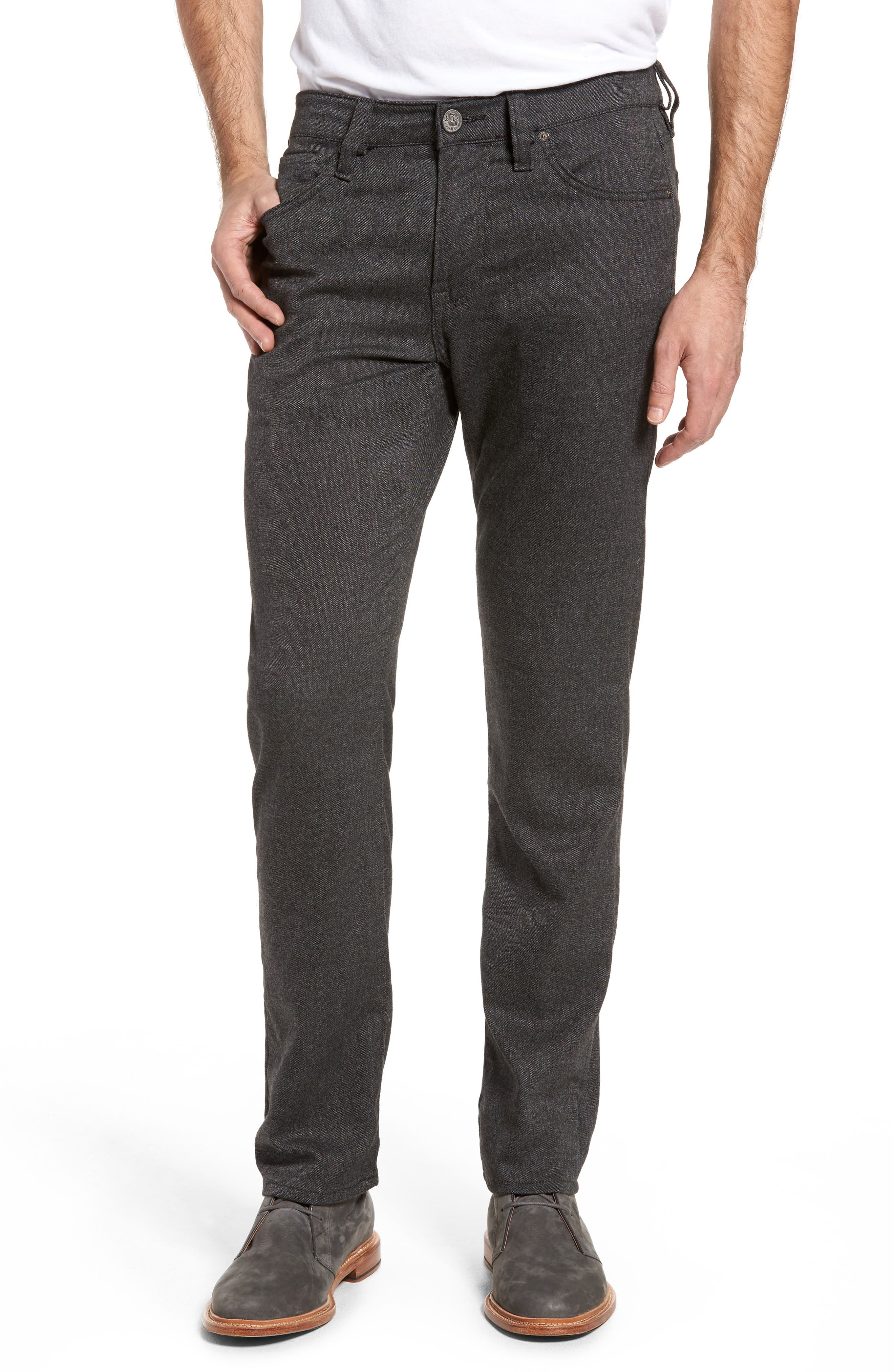 Courage Straight Leg Tweed Pants,                             Main thumbnail 1, color,                             Grey Feather Tweed