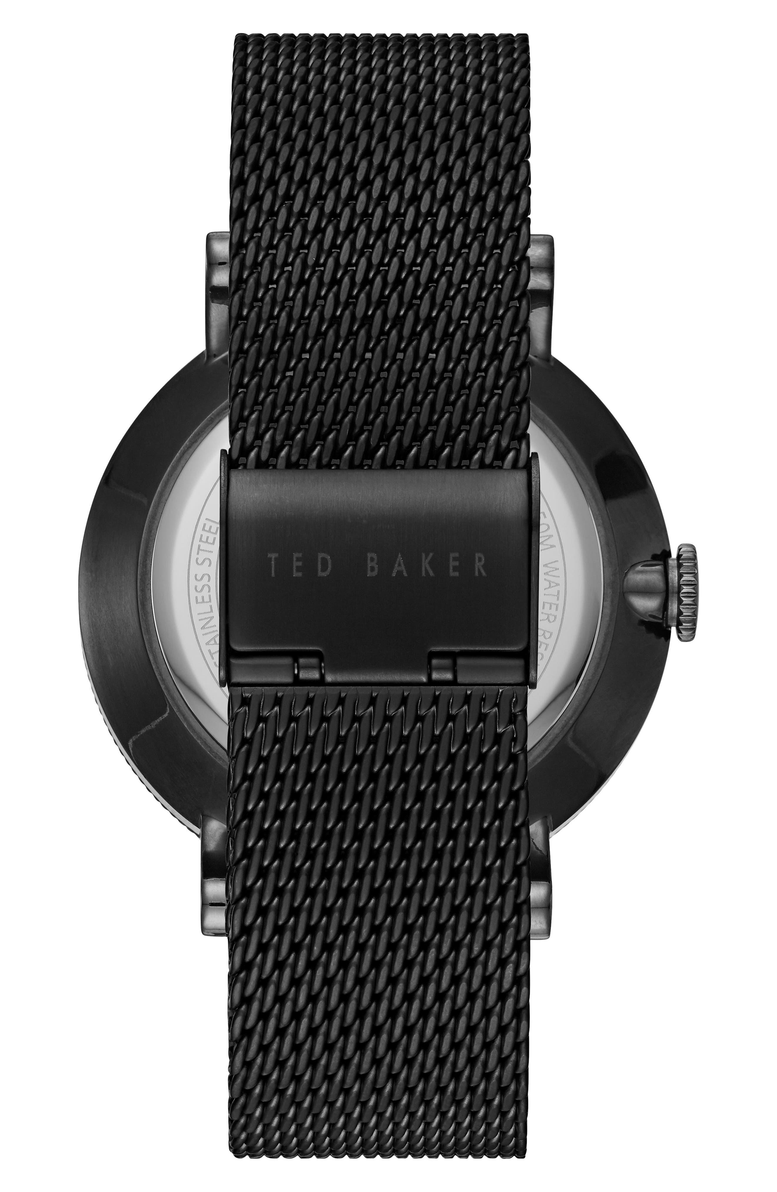Alternate Image 2  - Ted Baker London Connor Mesh Bracelet Watch, 42mm
