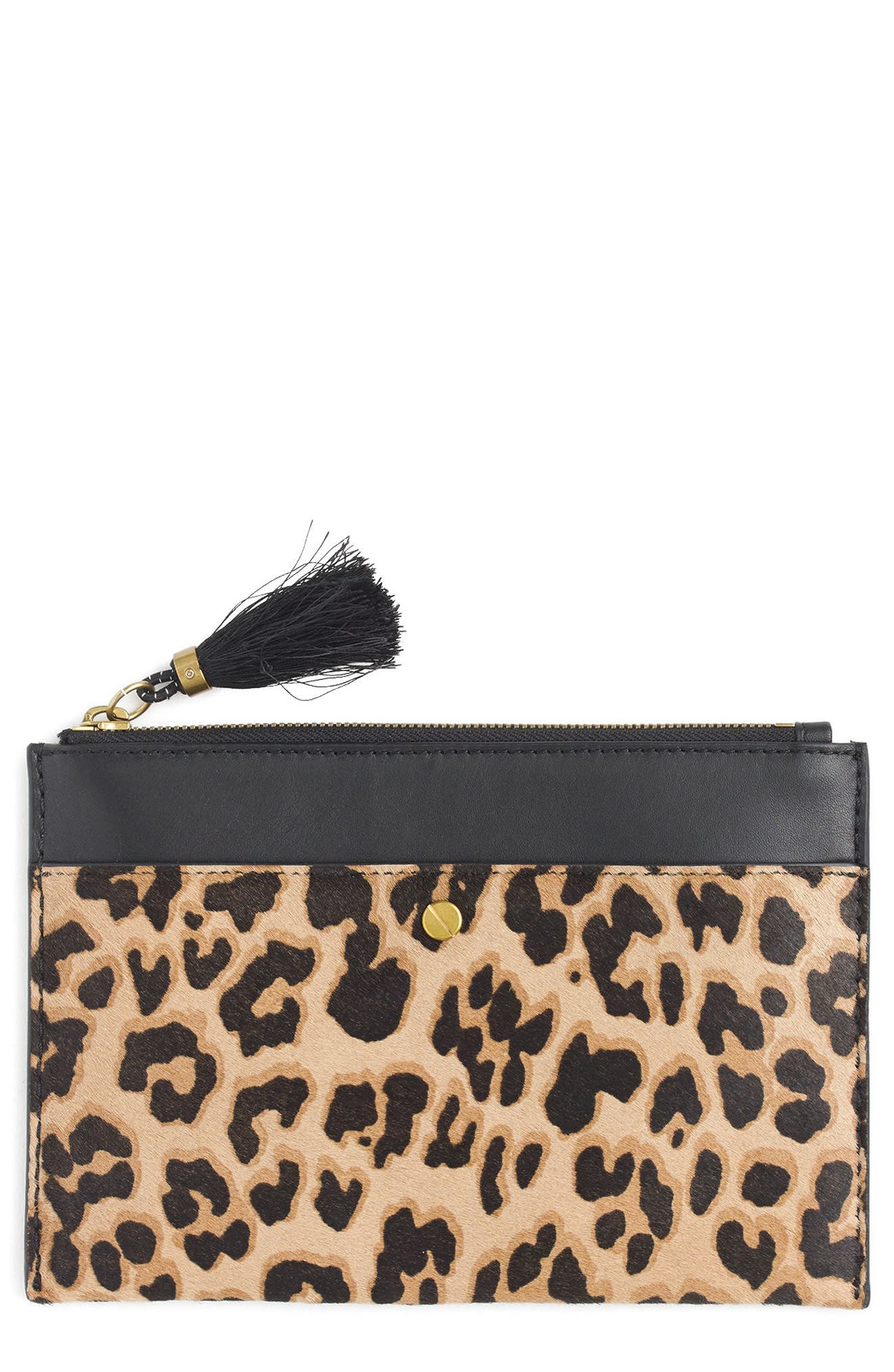 Main Image - J.Crew Medium Genuine Calf Hair Pouch