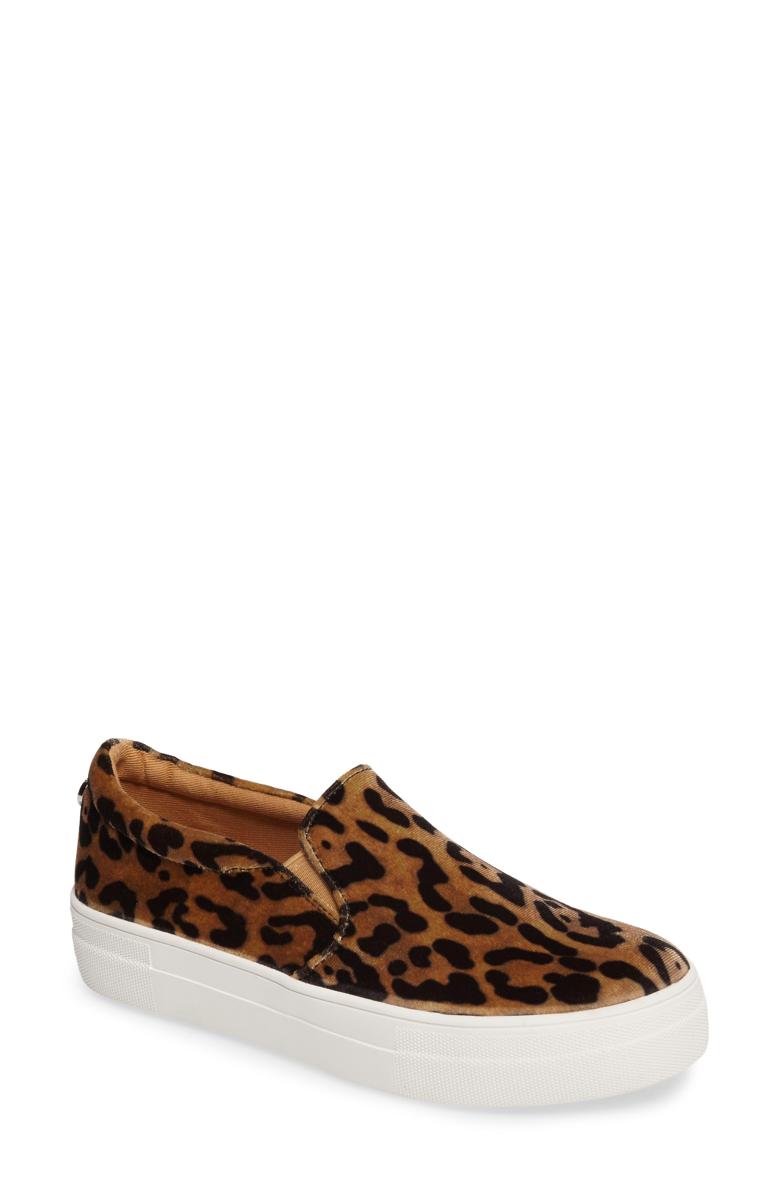 Gills Platform Slip-On Sneaker,                             Main thumbnail 1, color,                             Leopard