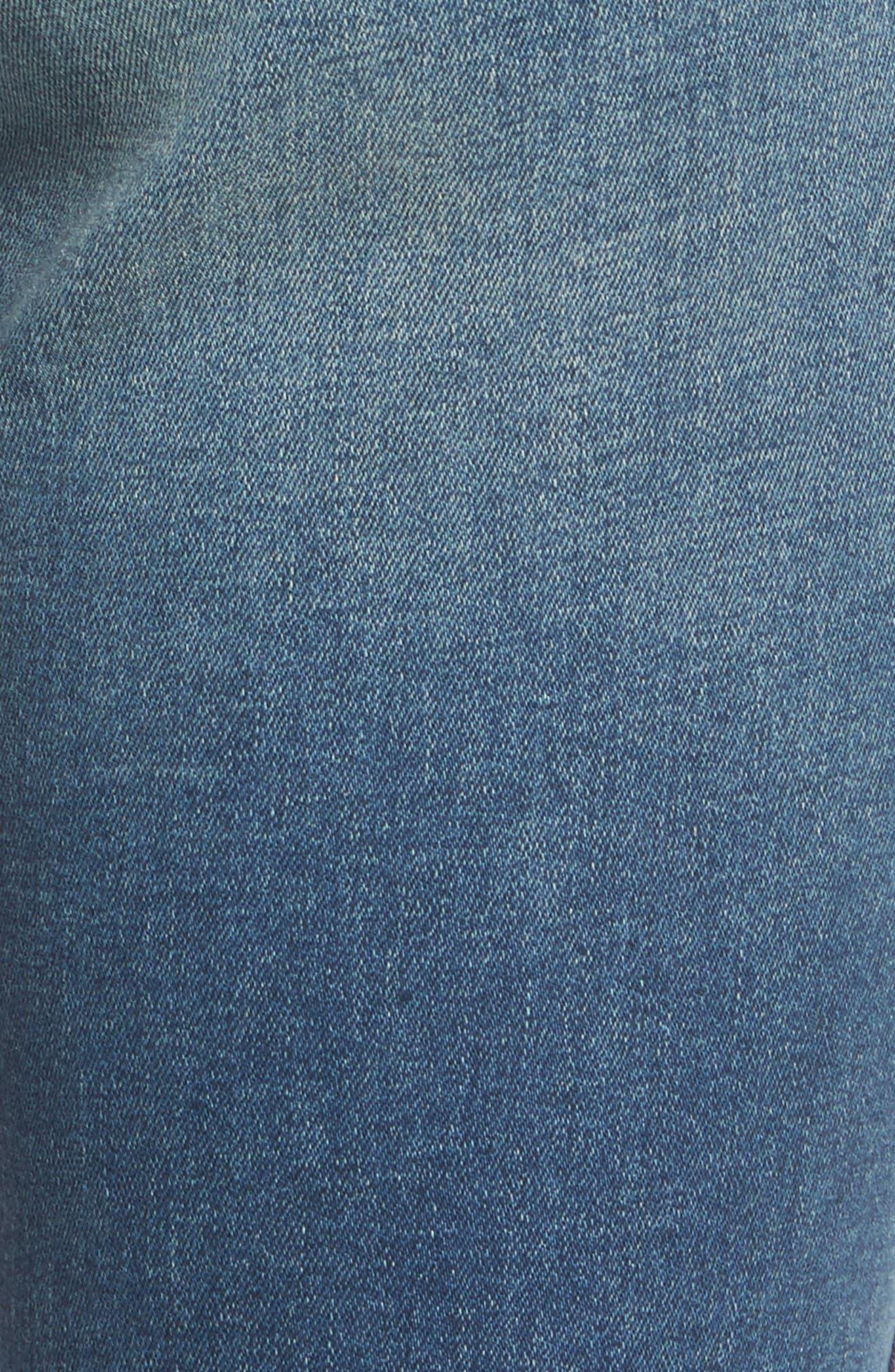 Alternate Image 5  - Current/Elliott The High Waist Stiletto Ankle Skinny Jeans (Powell/Applied Stripe)