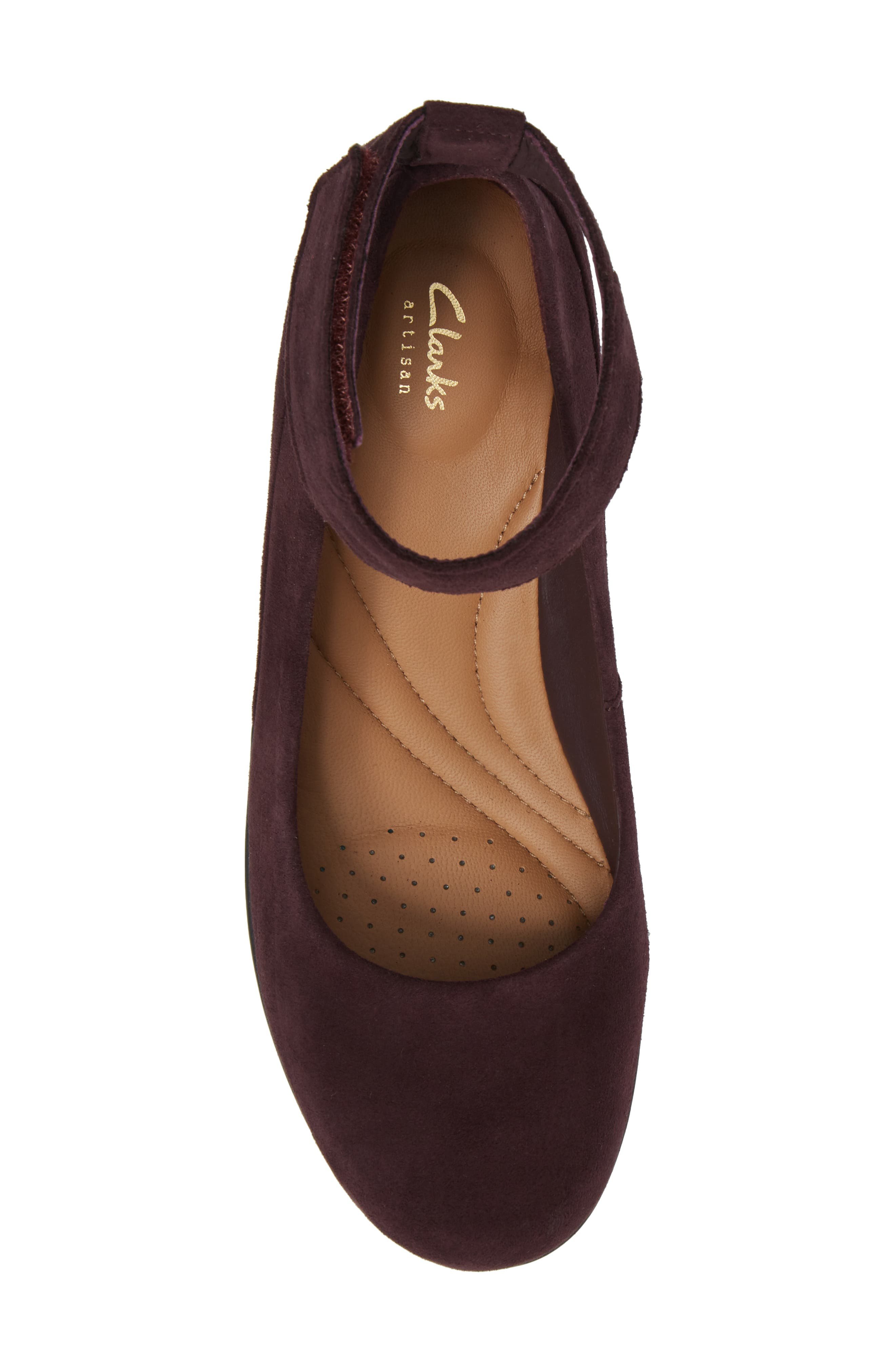 Wynnmere Fox Ankle Strap Pump,                             Alternate thumbnail 5, color,                             Aubergine Suede