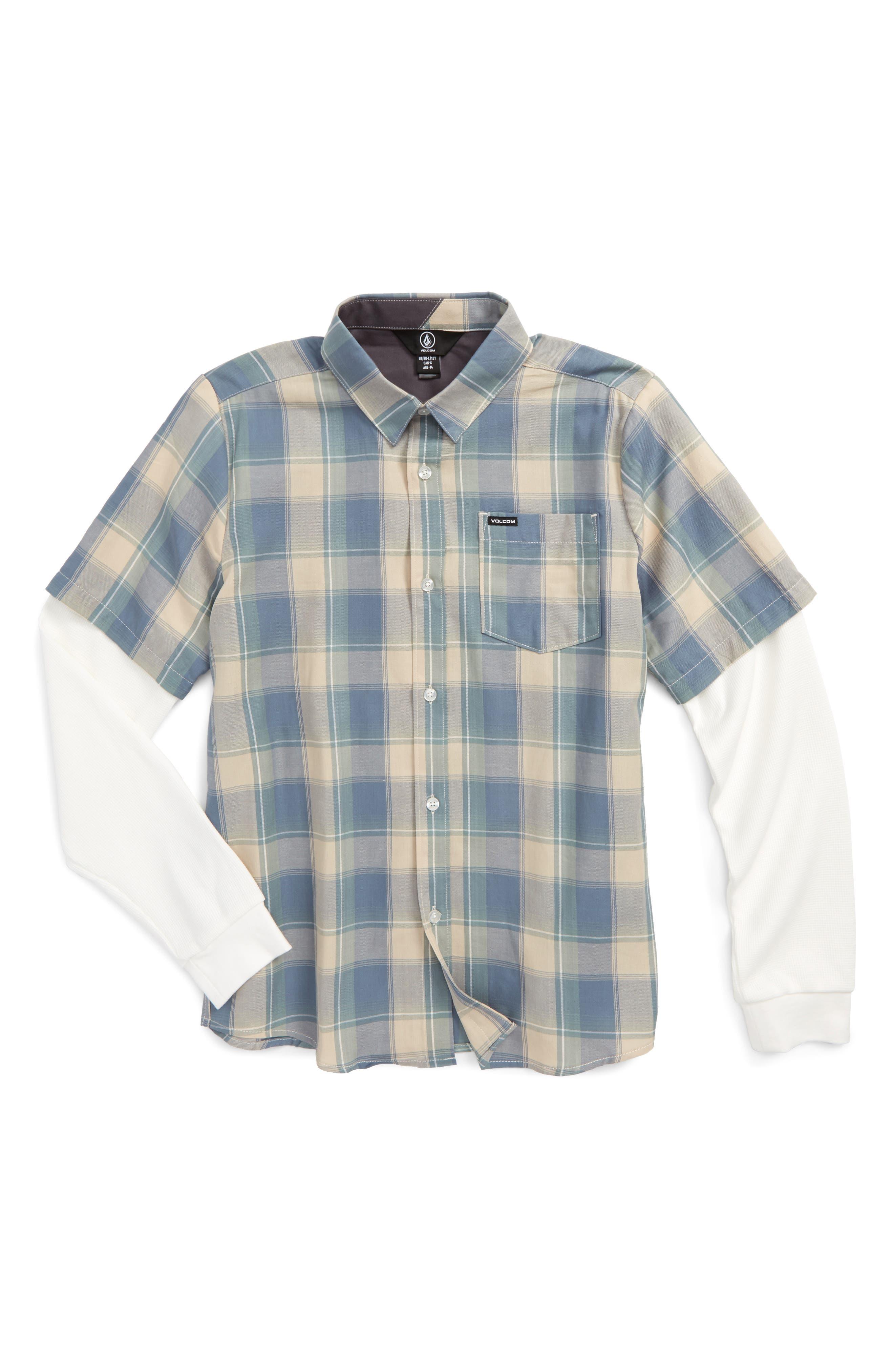 Volcom Hayes Plaid Layer Shirt (Big Boys)
