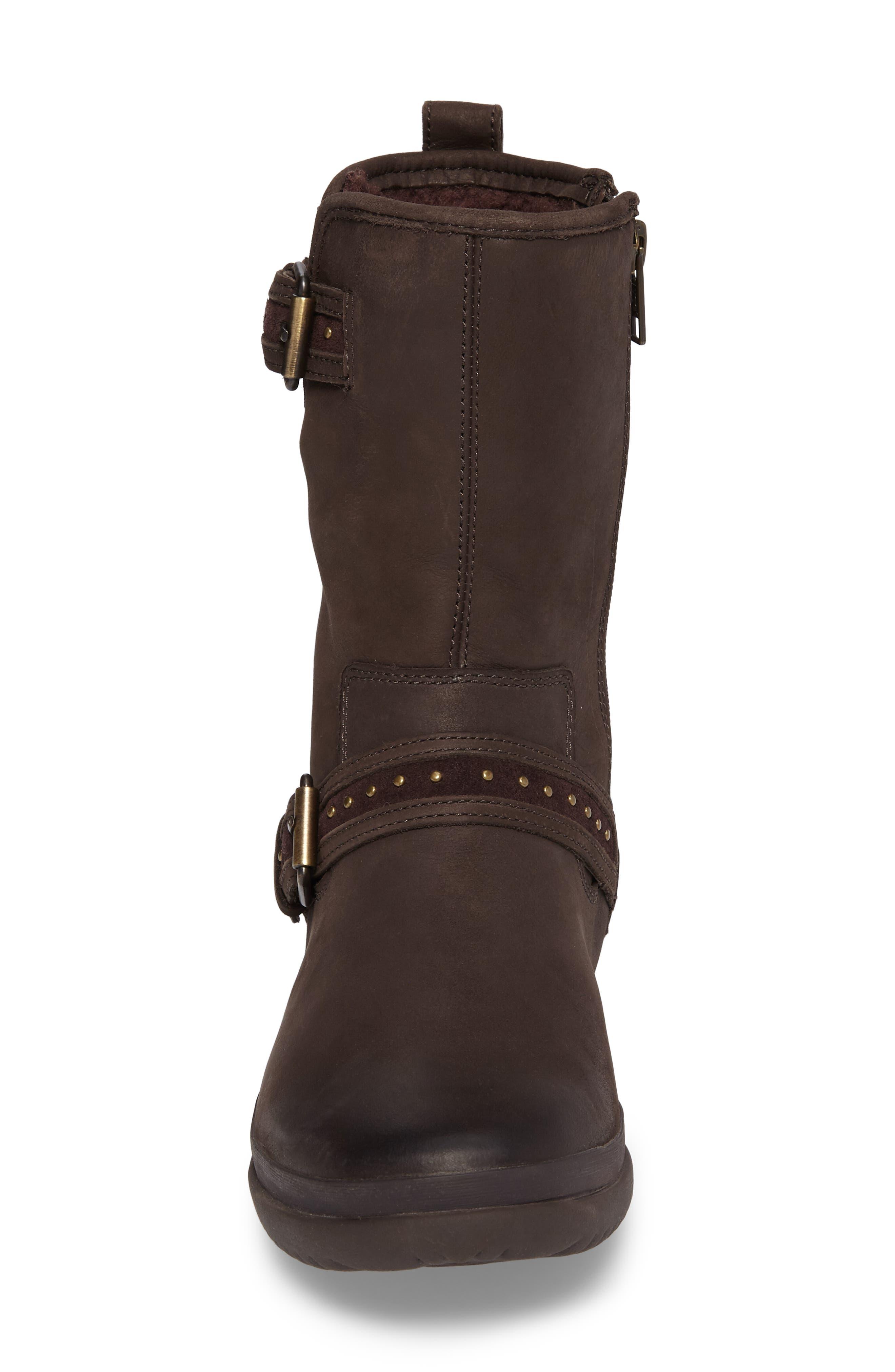 Jenise Waterproof Boot,                             Alternate thumbnail 4, color,                             Stout Leather