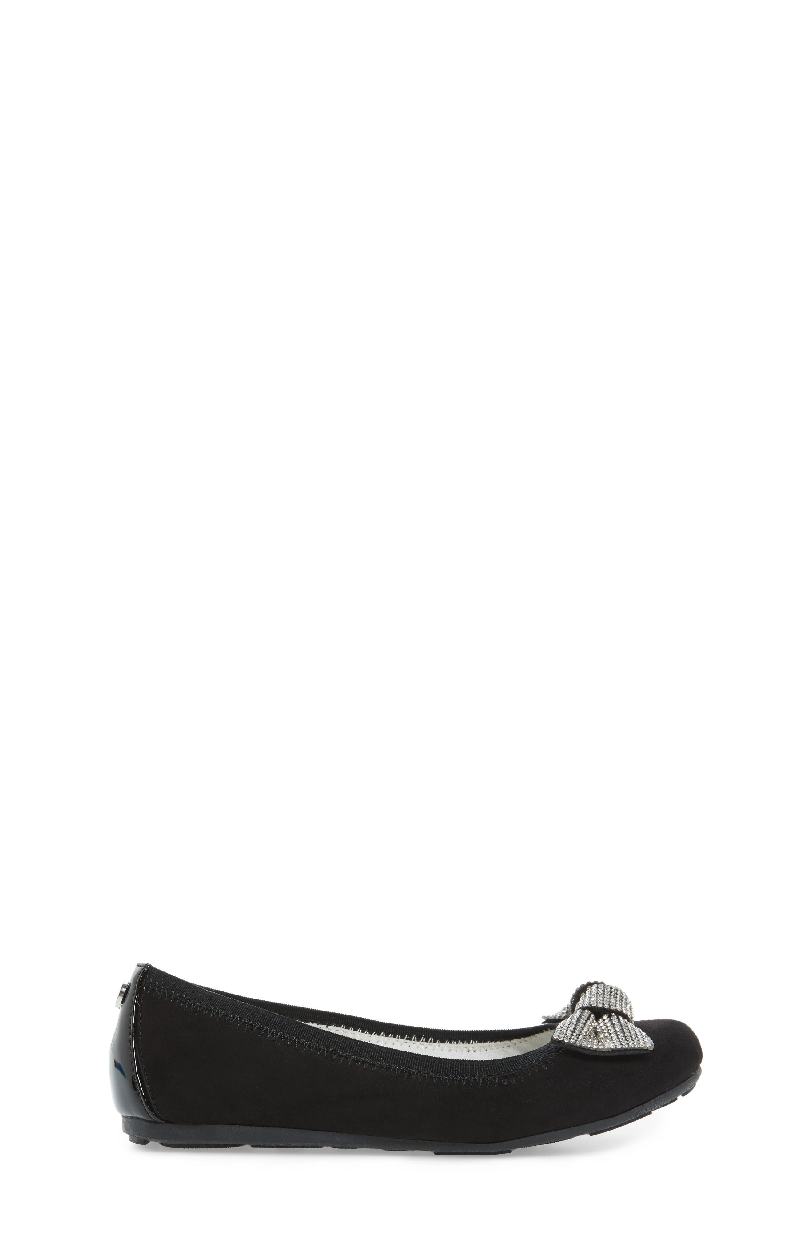 Fannie Glitz Ballet Flat,                             Alternate thumbnail 2, color,                             Black Faux Leather