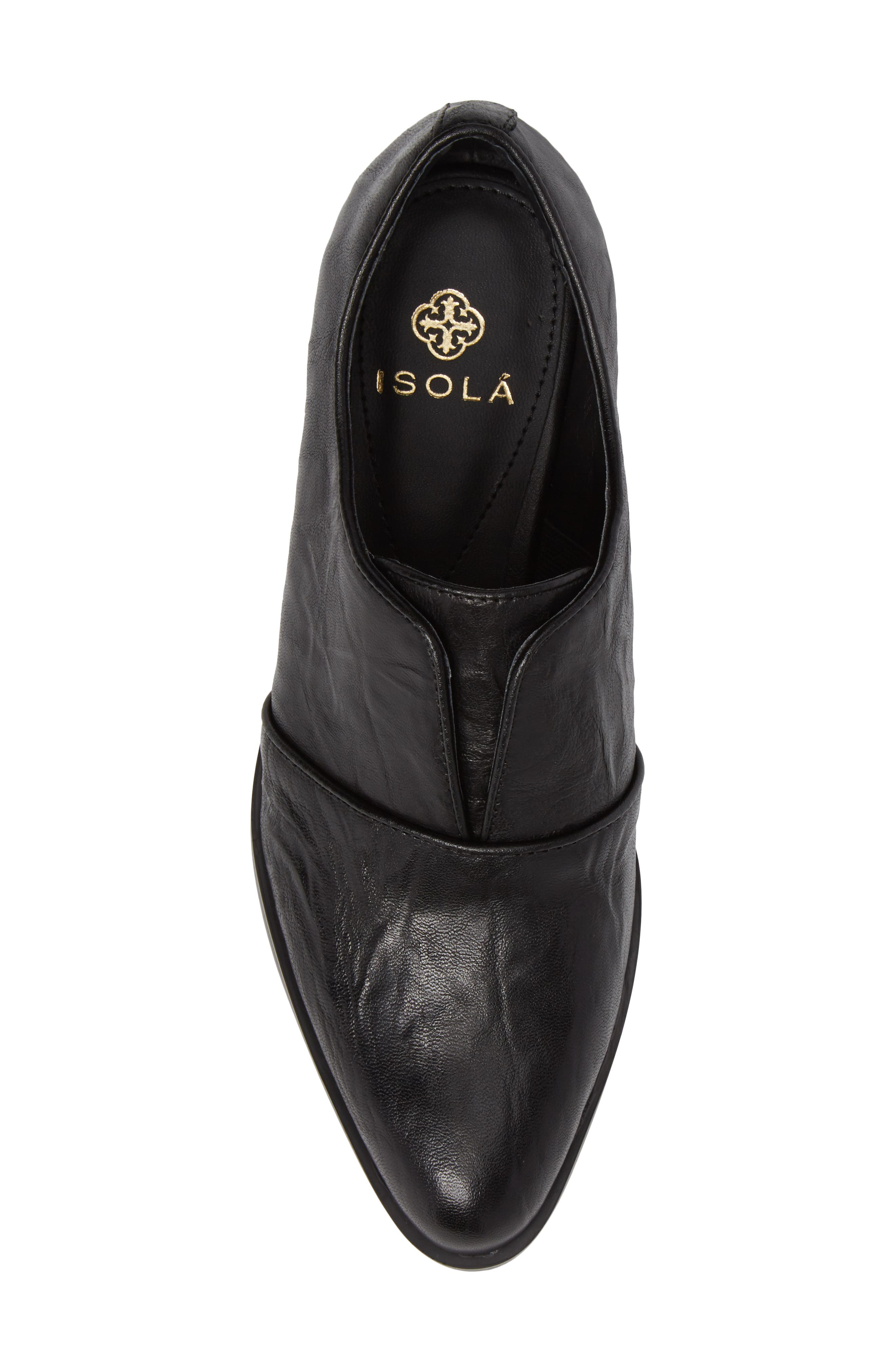 Isola Maria Slip-On Oxford,                             Alternate thumbnail 5, color,                             Black Leather