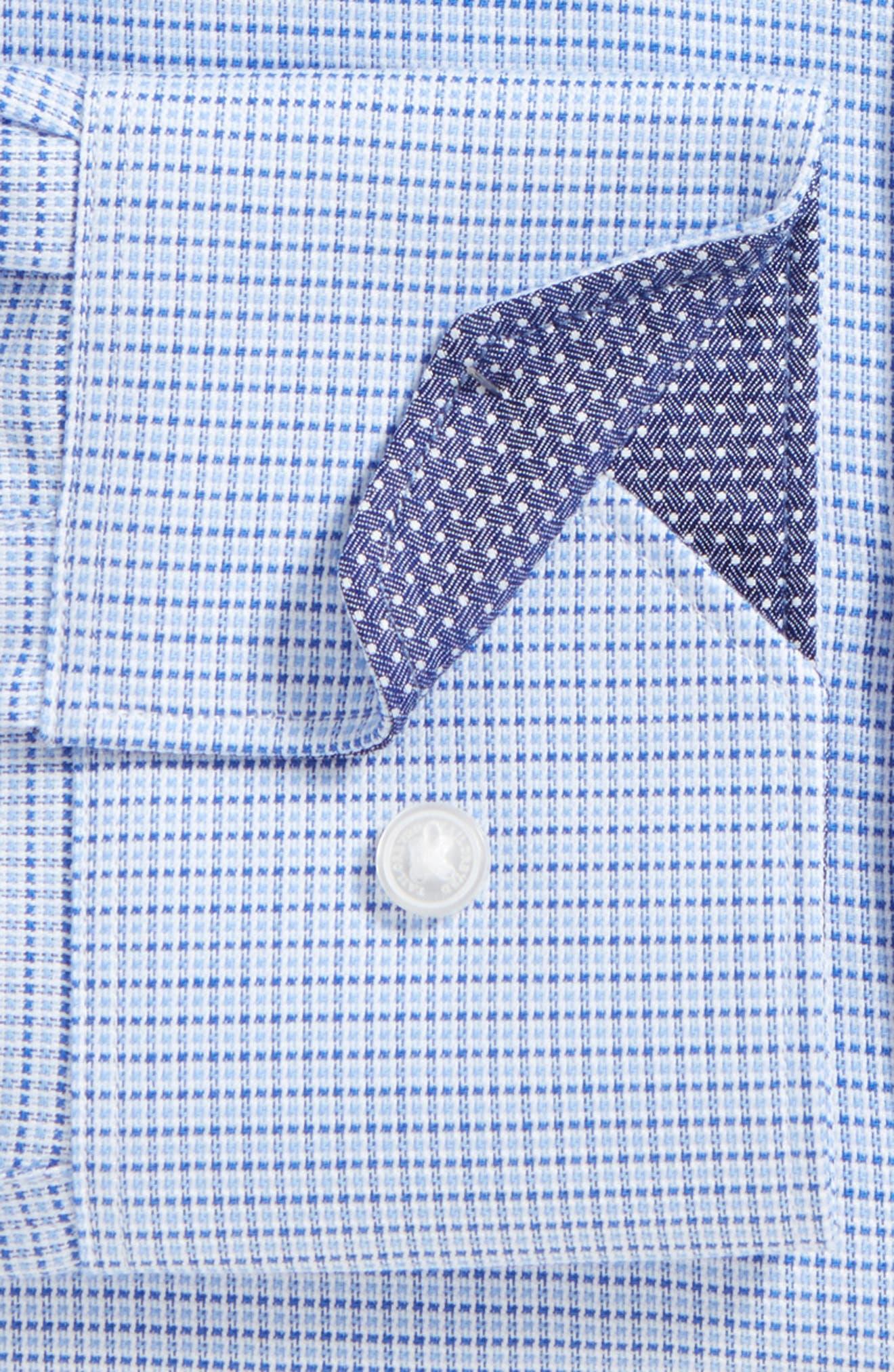Alternate Image 2  - Tailorbyrd Destrehan Trim Fit Non-Iron Check Dress Shirt