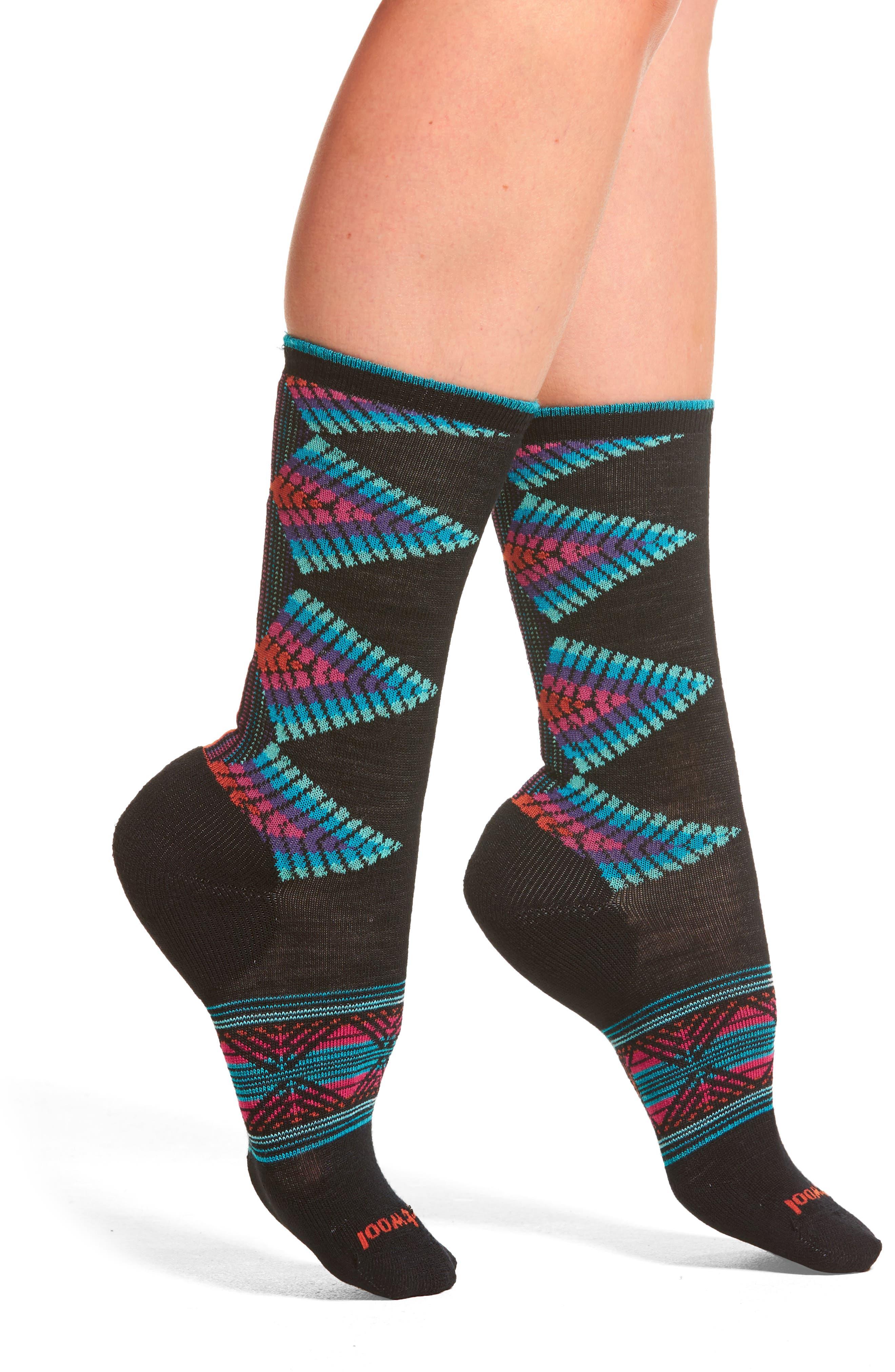 Tiva Crew Socks,                         Main,                         color, Black
