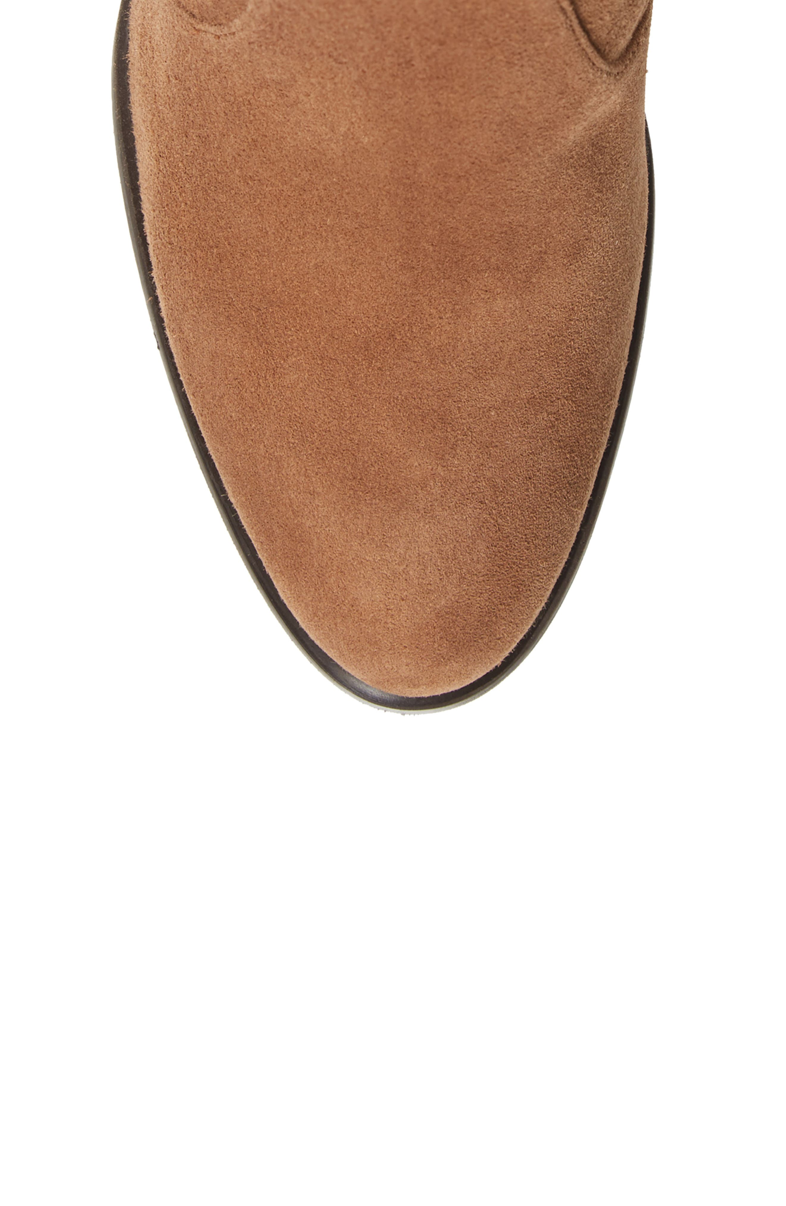 Hiline Over the Knee Boot,                             Alternate thumbnail 5, color,                             Nutmeg Suede