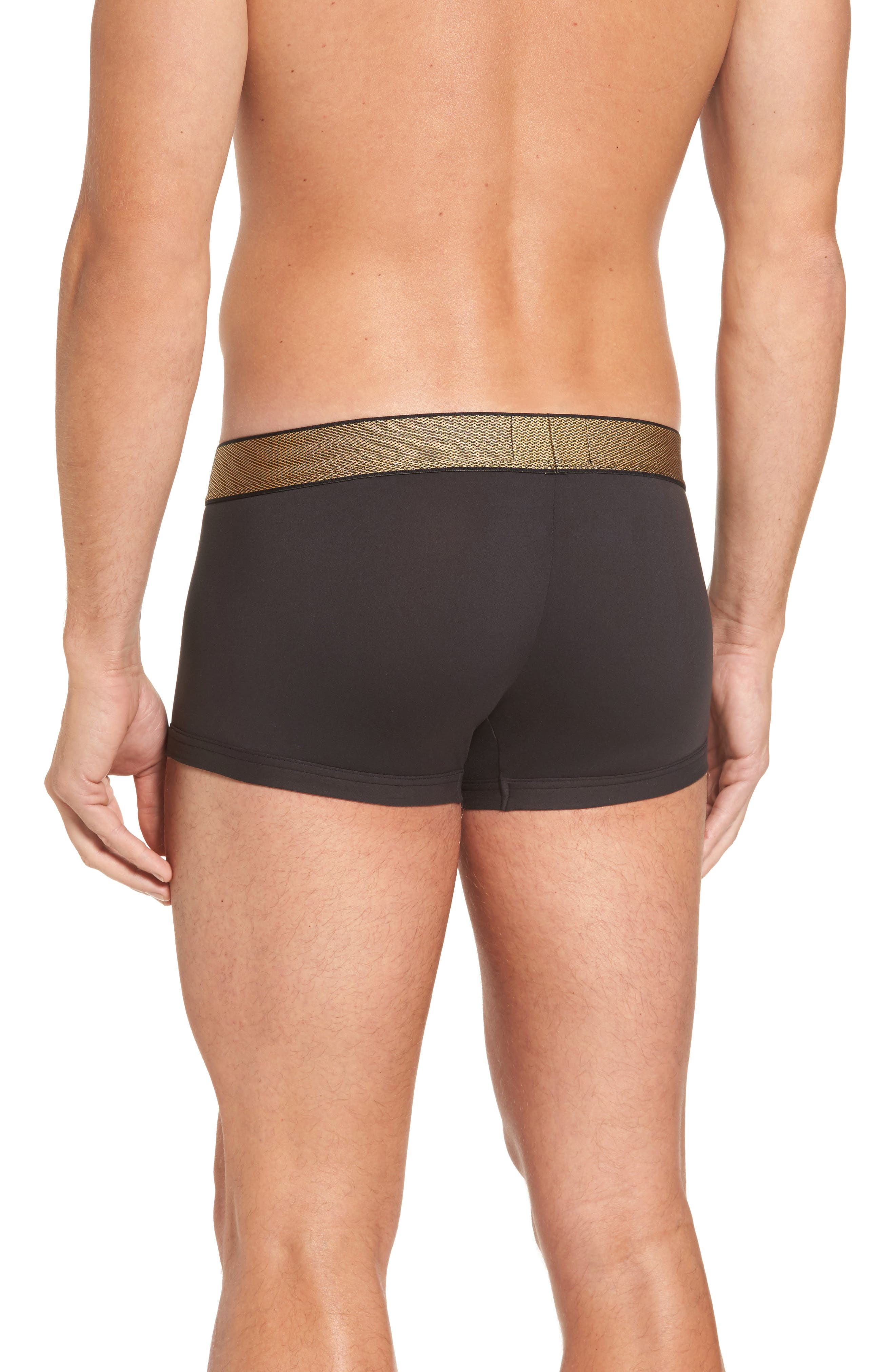 Holiday Trunks,                             Alternate thumbnail 2, color,                             Black W/ Gold Wb