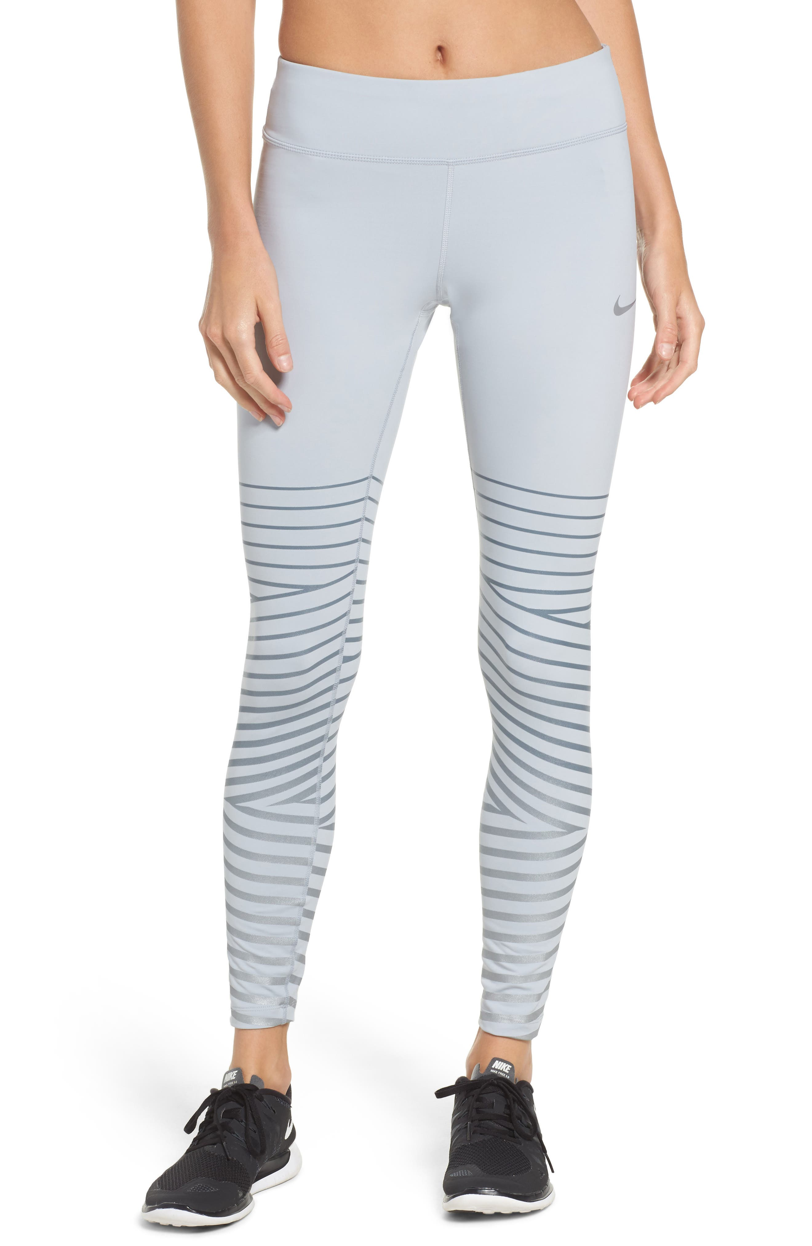Power Epic Lux Flash Running Tights,                         Main,                         color, Wolf Grey