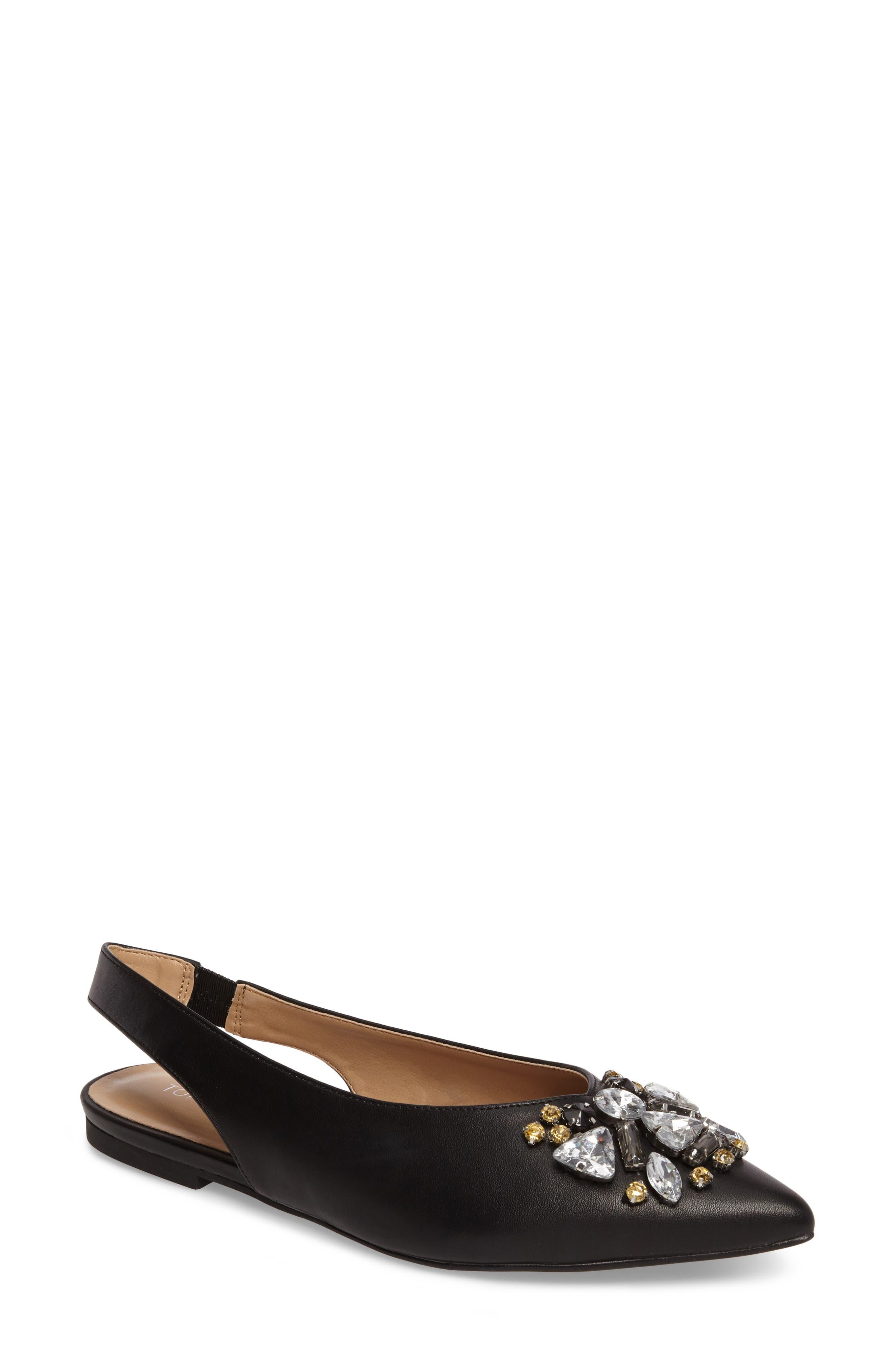Main Image - Topshop Ava Embellished Slingback Flat (Women)