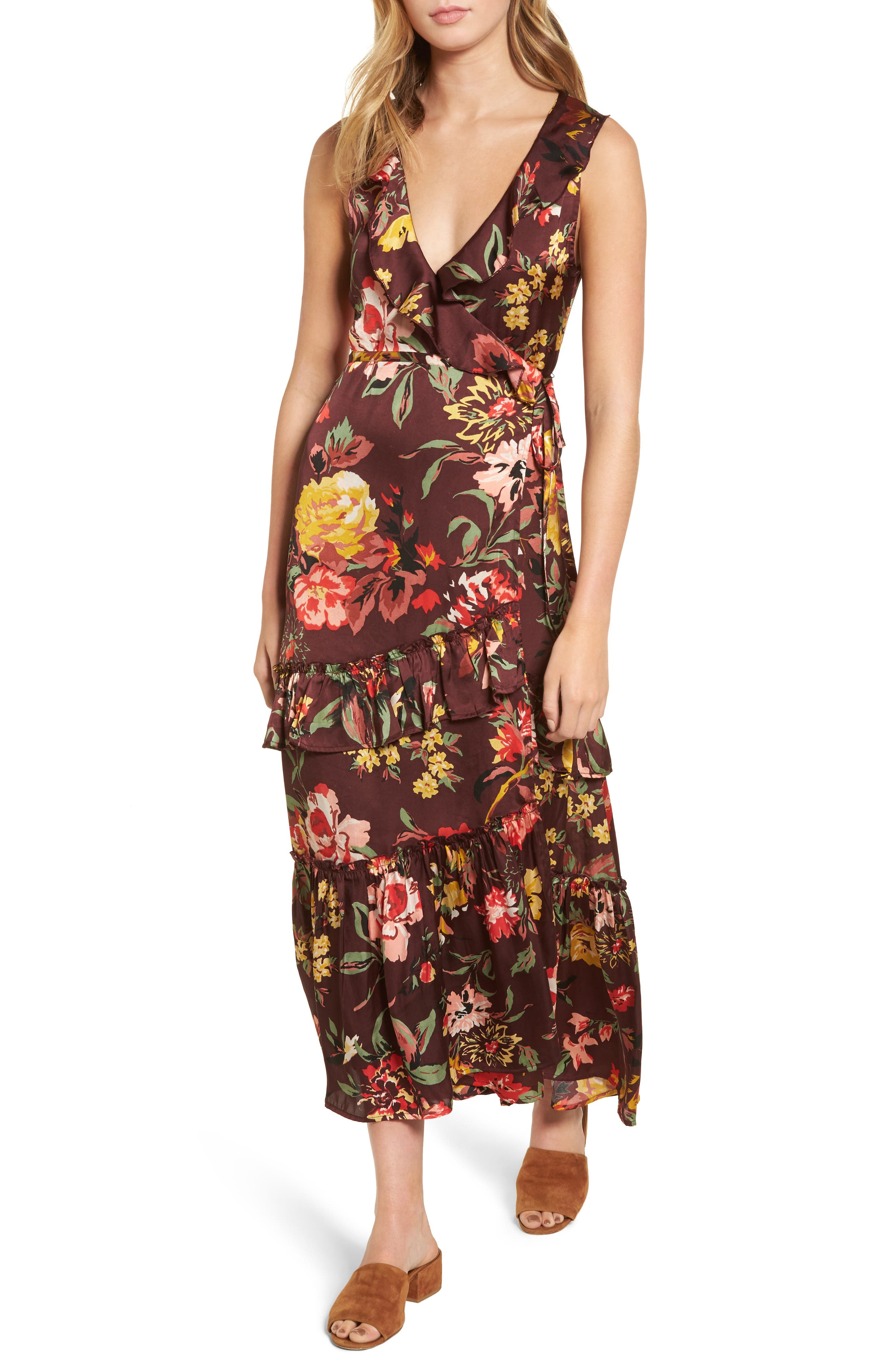 Alternate Image 1 Selected - Love Like Summer x Billabong Ruffle Wrap Dress