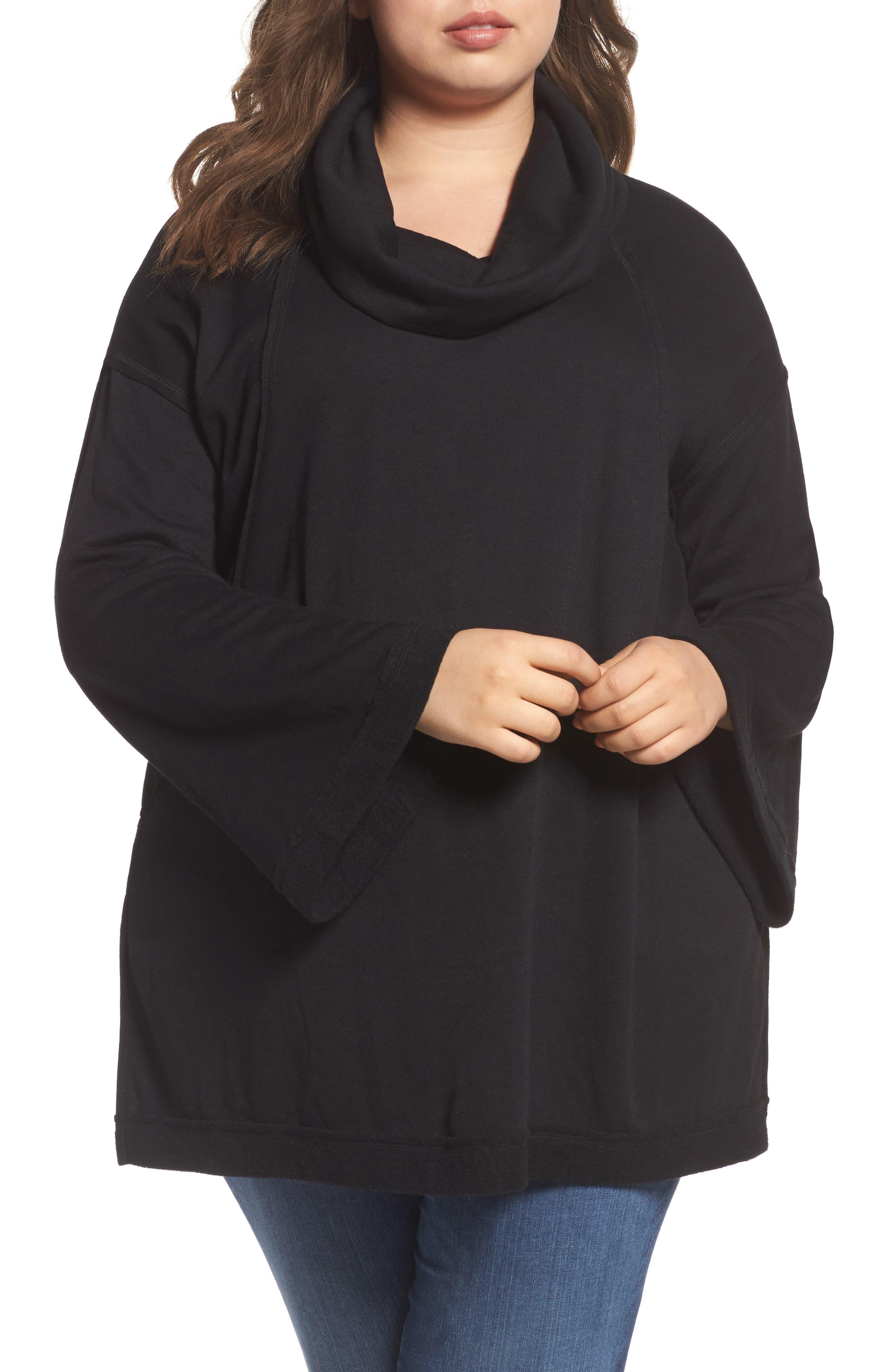 Caslon® Cozy Knit Tunic (Plus Size)