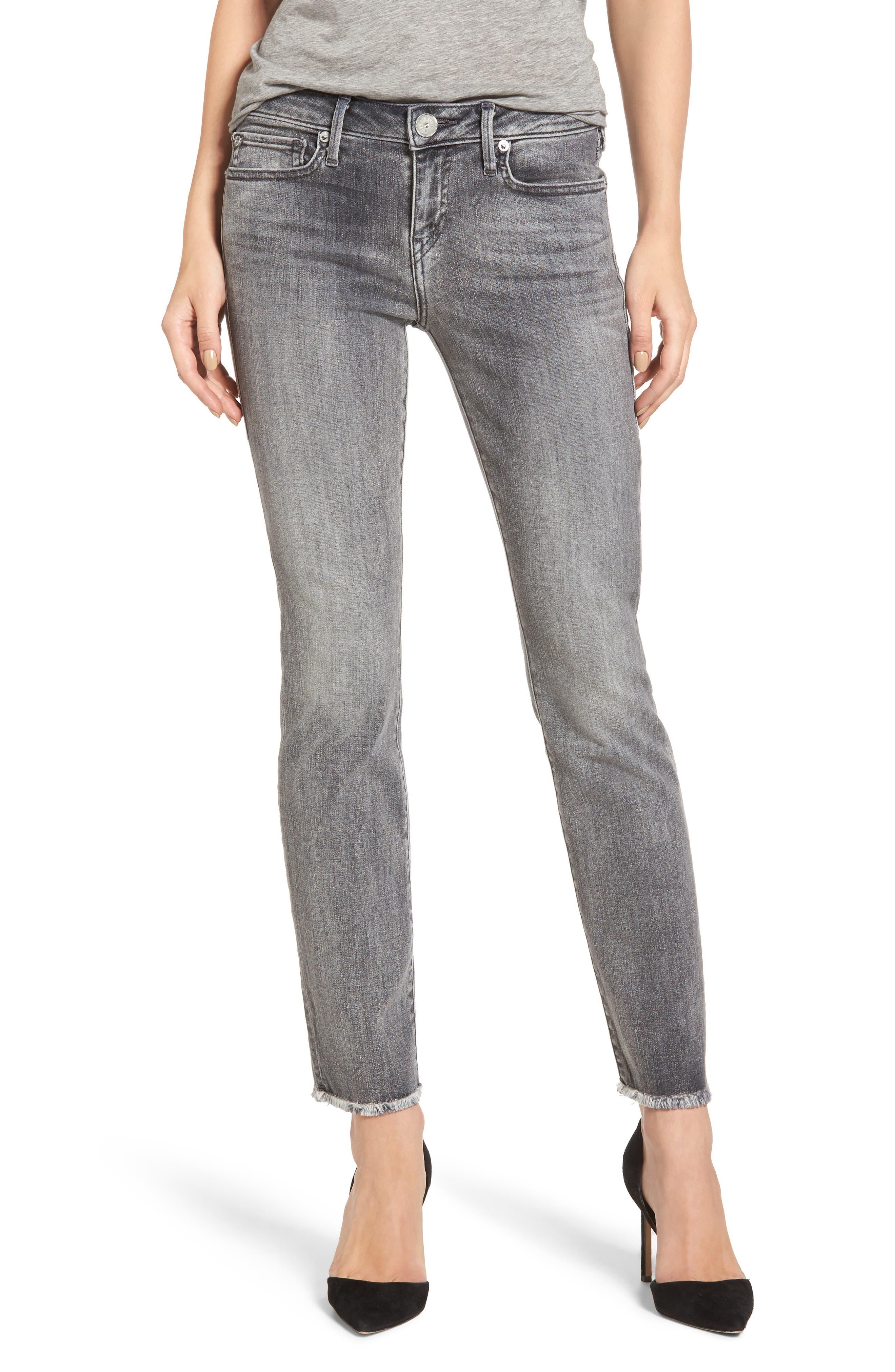 Alternate Image 1 Selected - True Religion Brand Jeans Sara Crop Cigarette Jeans (Eternal Grey)