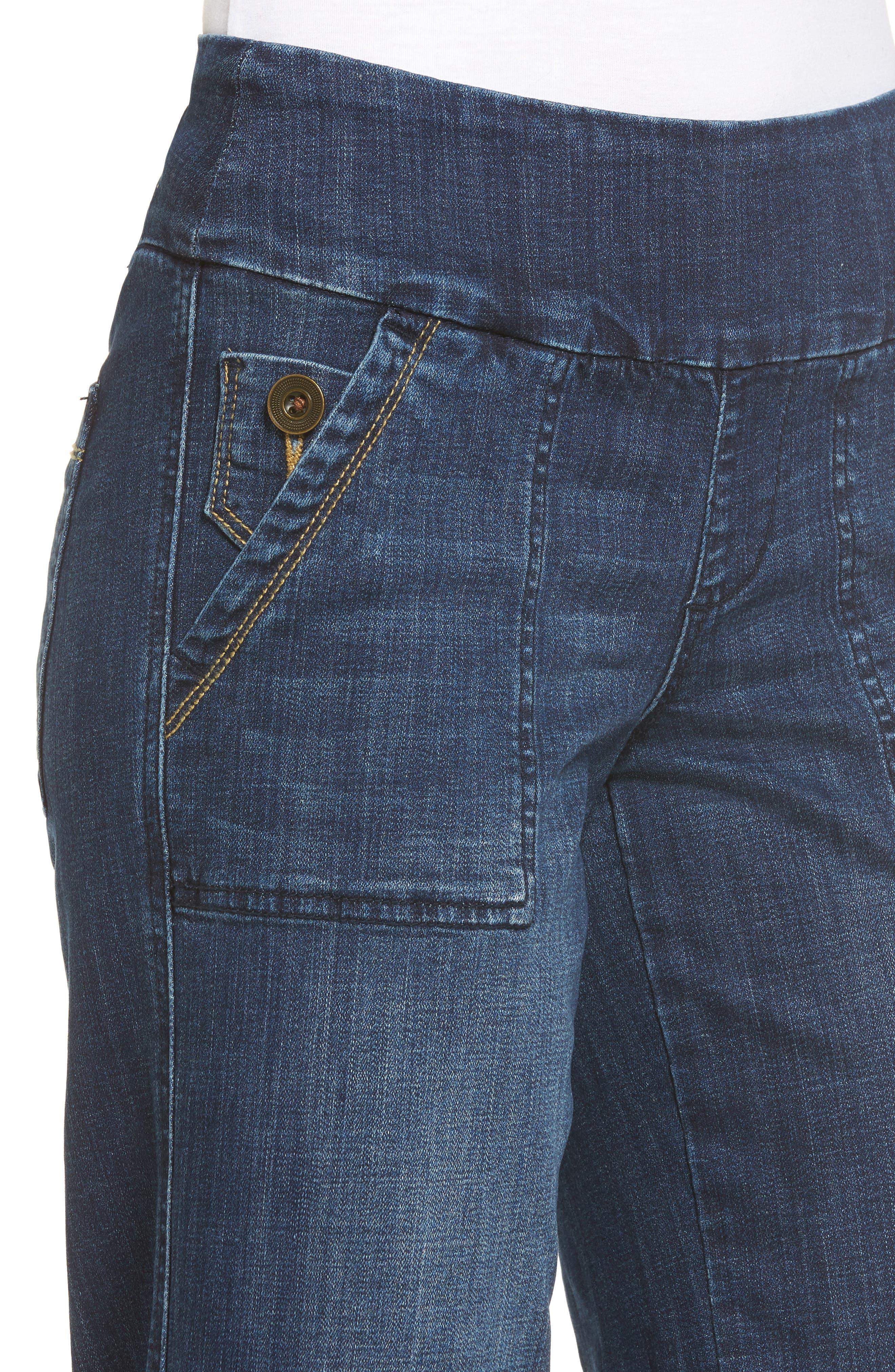 Alternate Image 4  - Jag Jeans Snyder Pull-On Wide Leg Jeans (Thorne Blue)