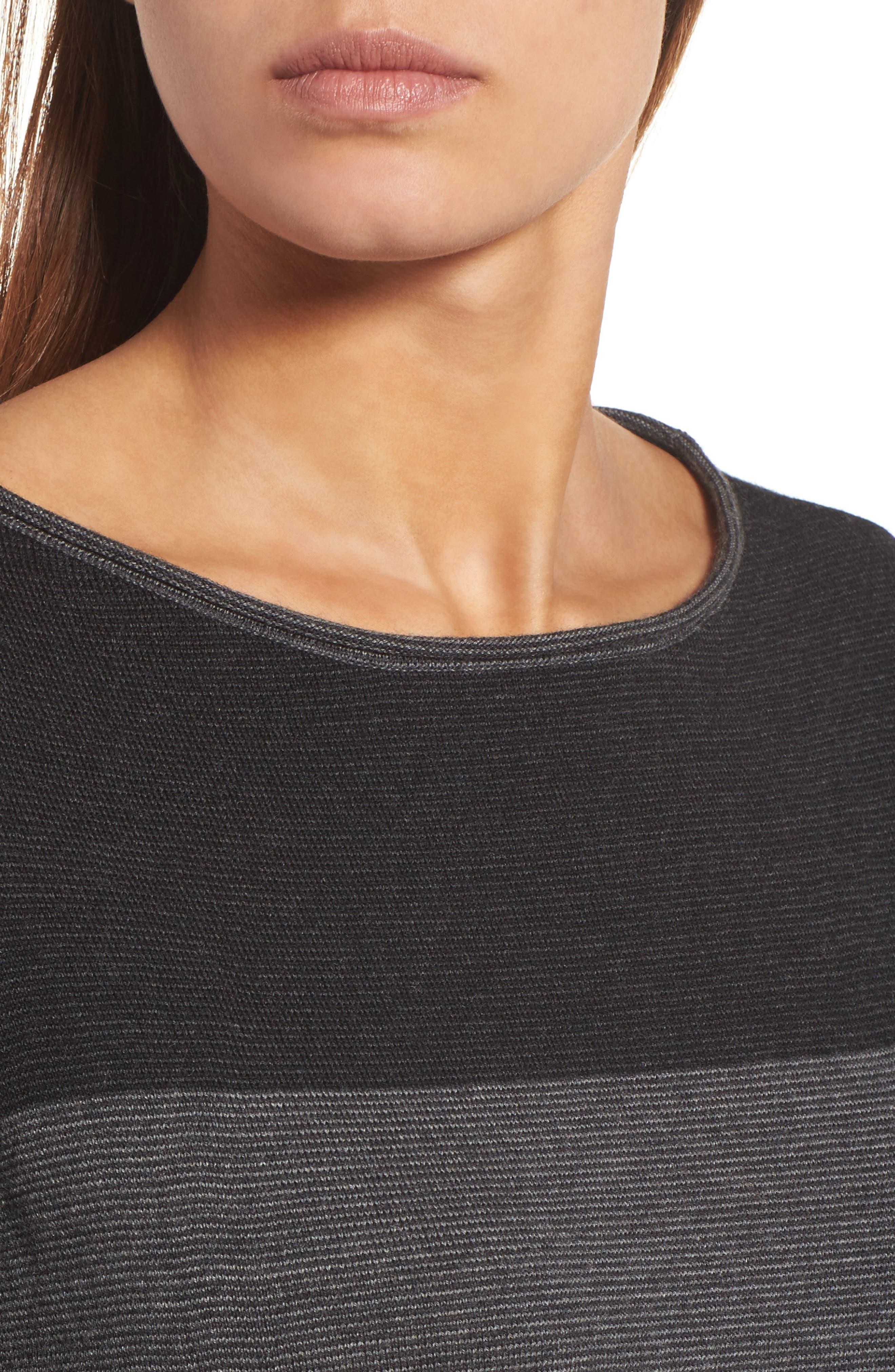 Alternate Image 4  - Eileen Fisher Bateau Neck Stripe Merino Wool Sweater