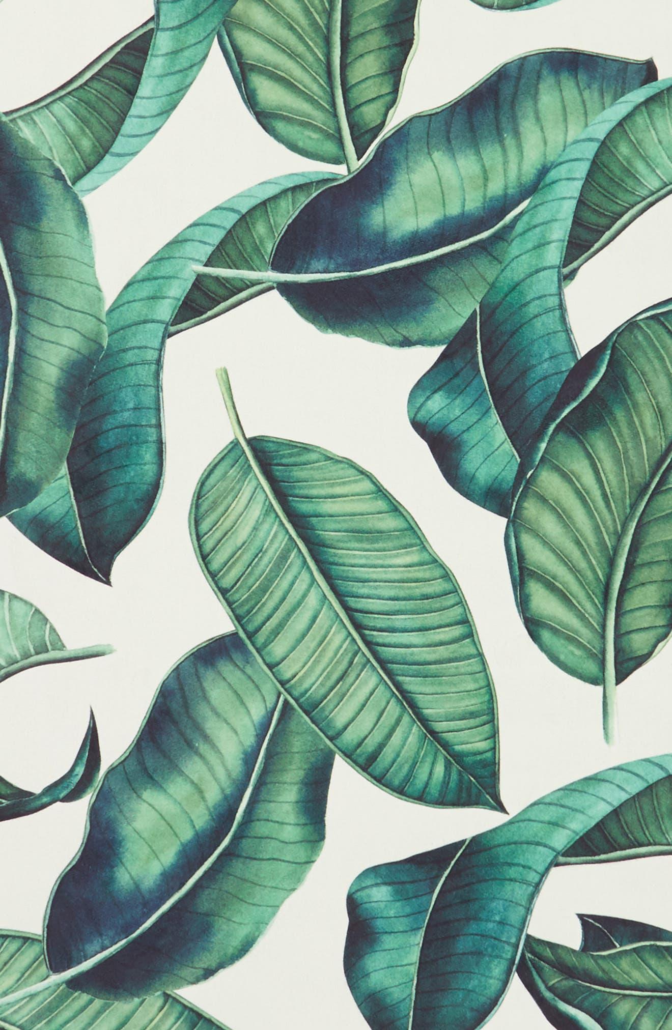 Tropical Leaf Yoga Mat,                             Alternate thumbnail 3, color,                             Natural