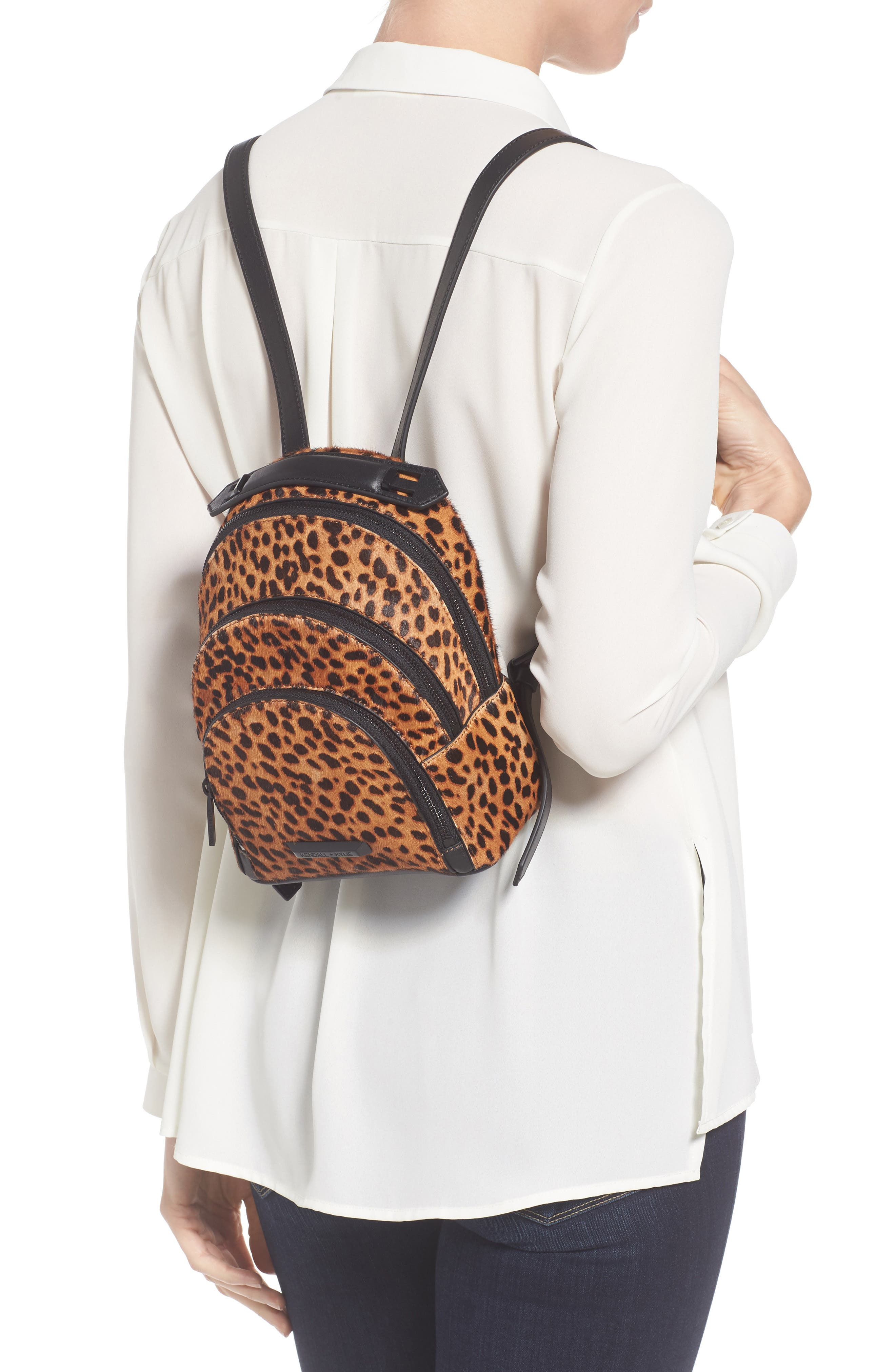 Alternate Image 2  - KENDALL + KYLIE Mini Sloane Genuine Calf Hair & Leather Backpack