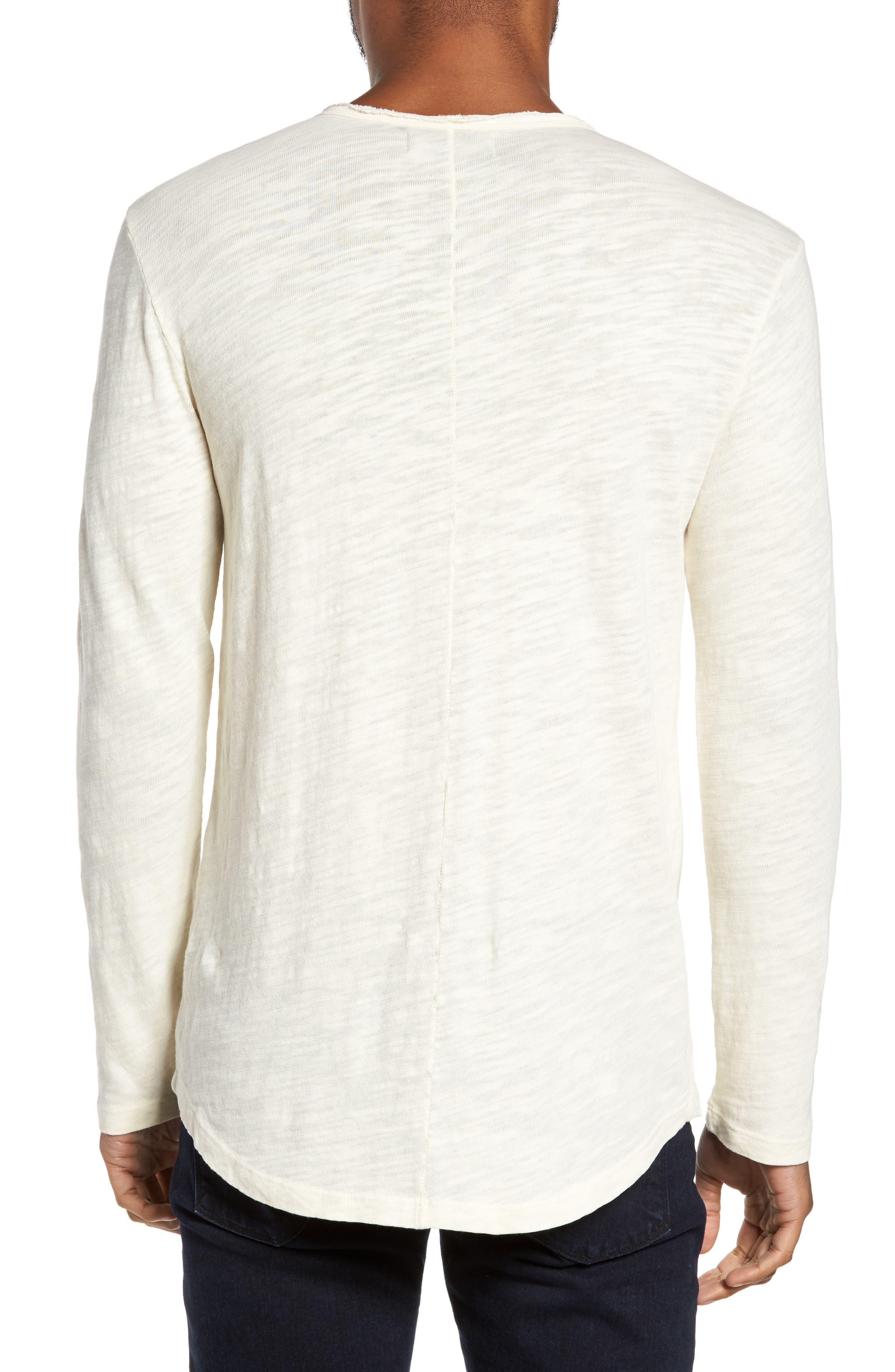 Slub Long Sleeve T-Shirt,                             Alternate thumbnail 2, color,                             Ecru