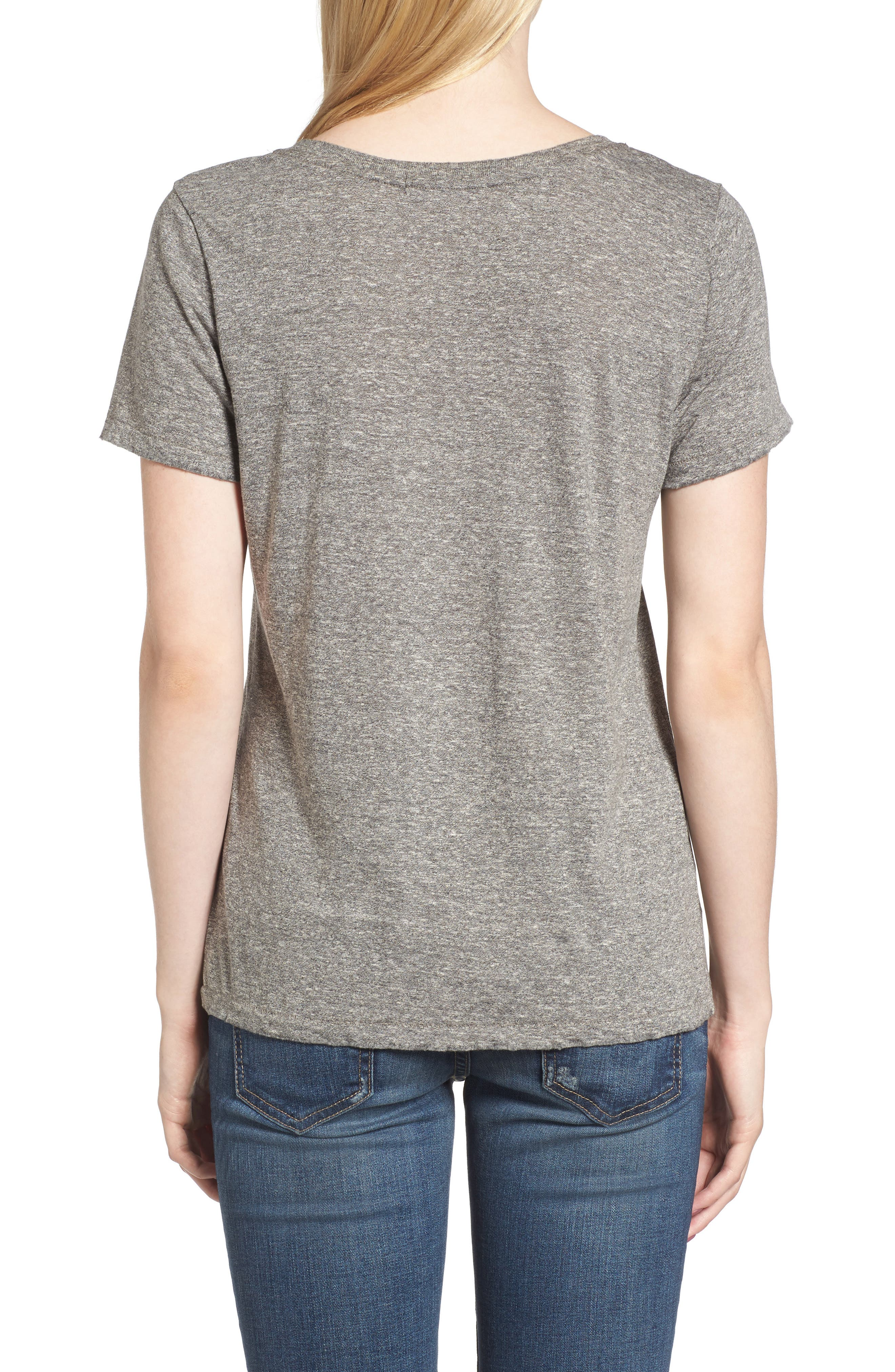 Ringo Distressed Tee,                             Alternate thumbnail 2, color,                             Heather Grey