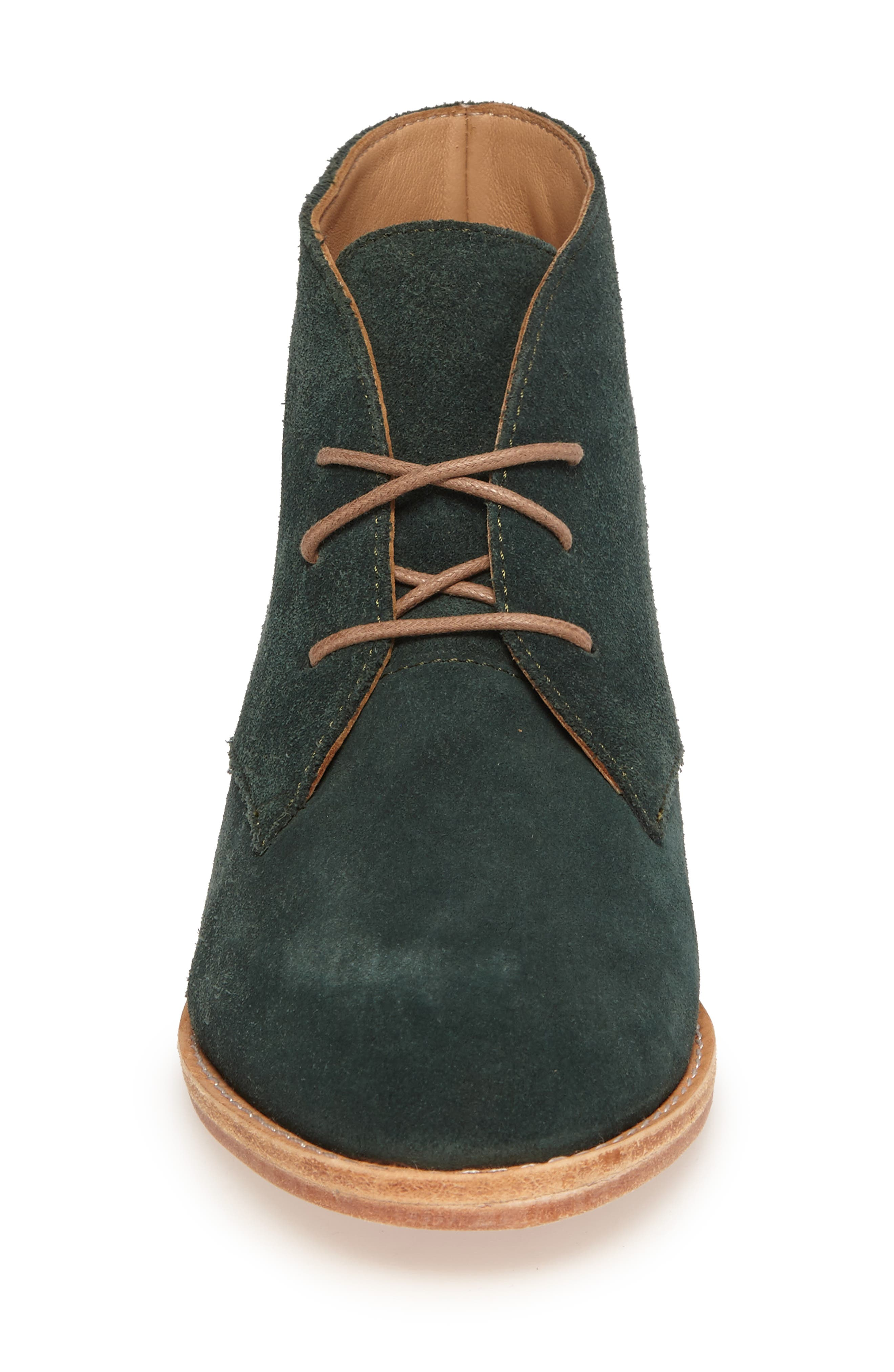 Manuela Chukka Boot,                             Alternate thumbnail 4, color,                             Forest Green Suede