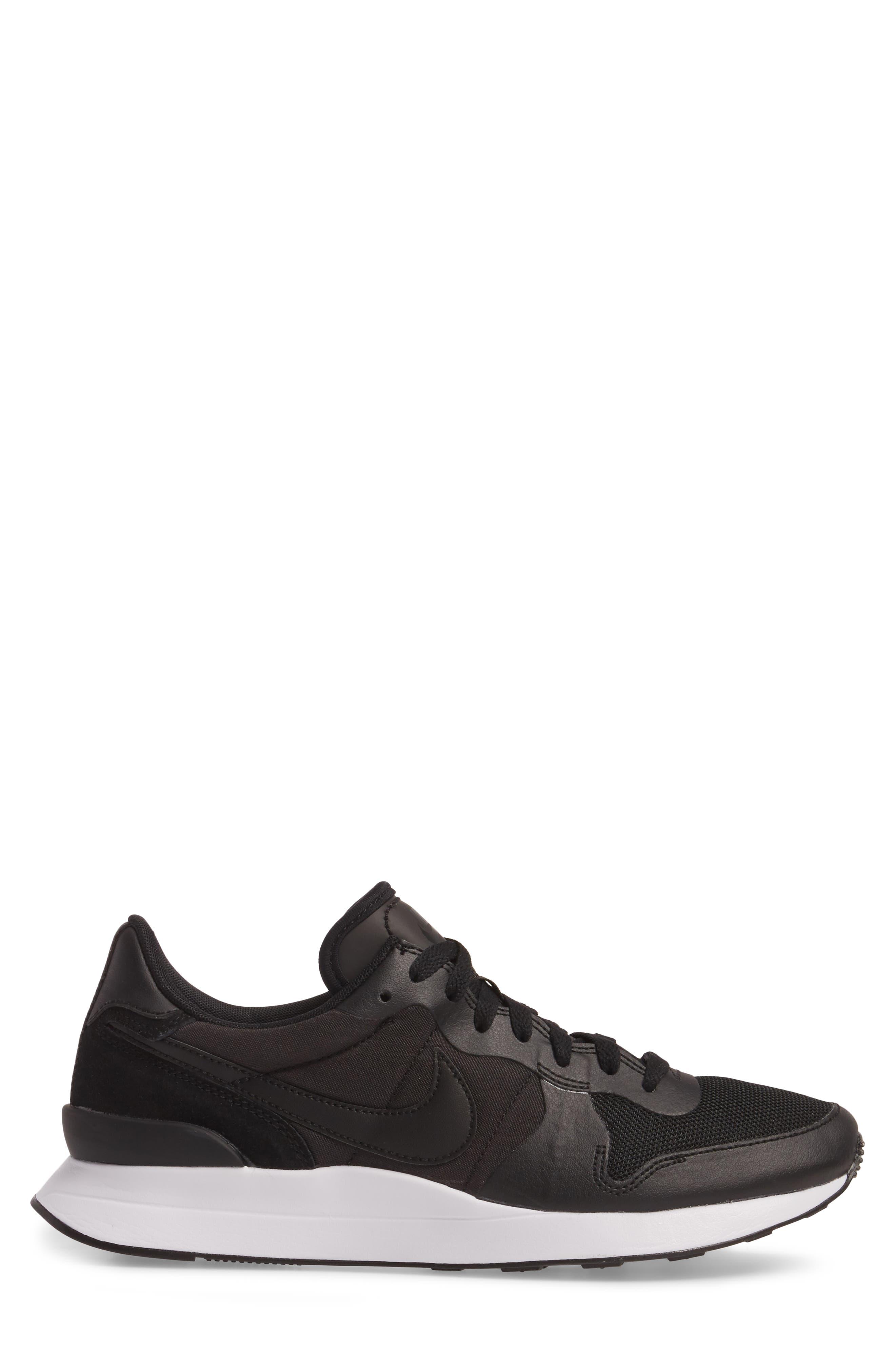 Internationalist LT17 Sneaker,                             Alternate thumbnail 3, color,                             Black/ Black/ White
