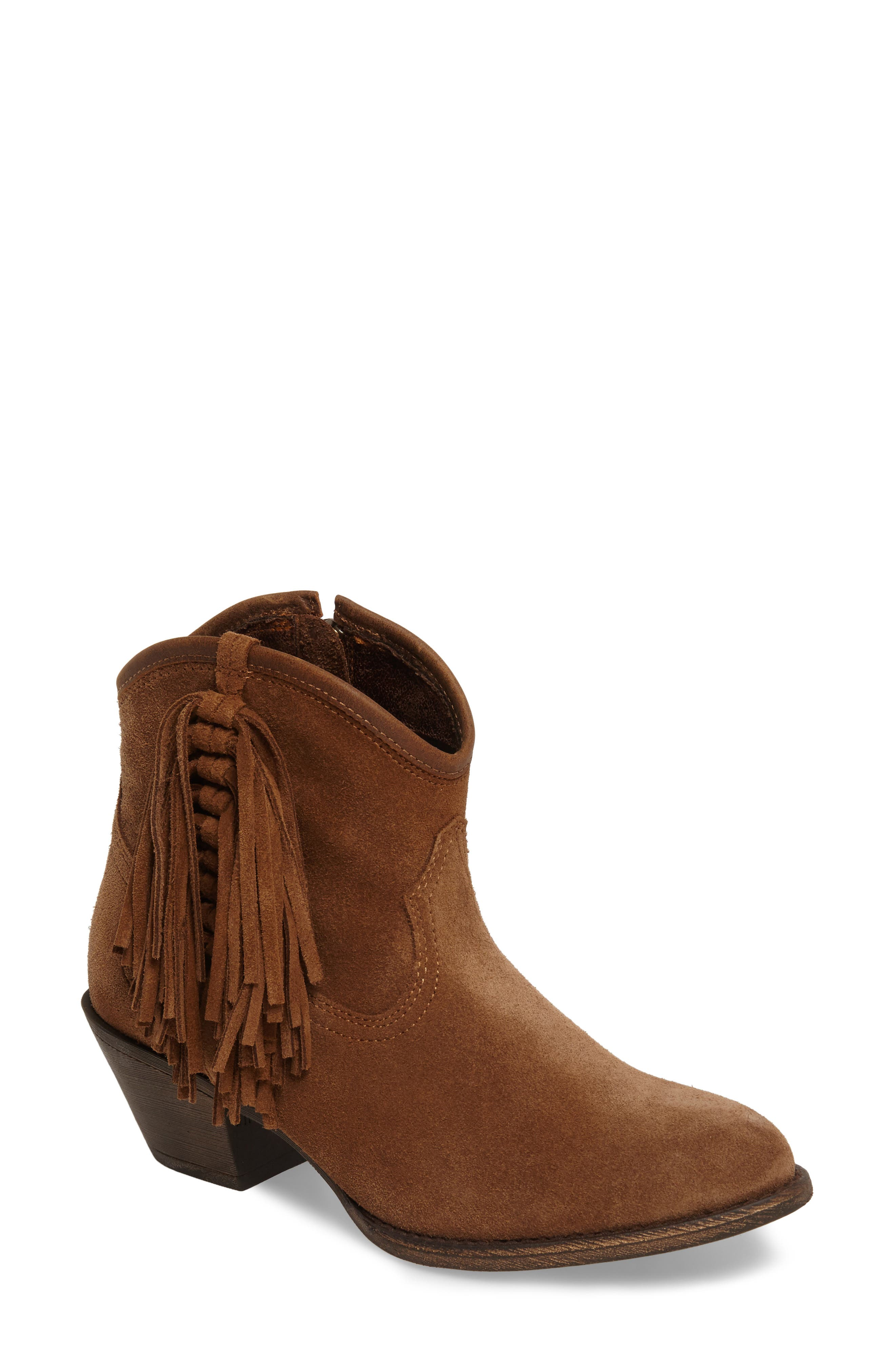 Duchess Western Boot,                         Main,                         color, Dirty Tan Suede