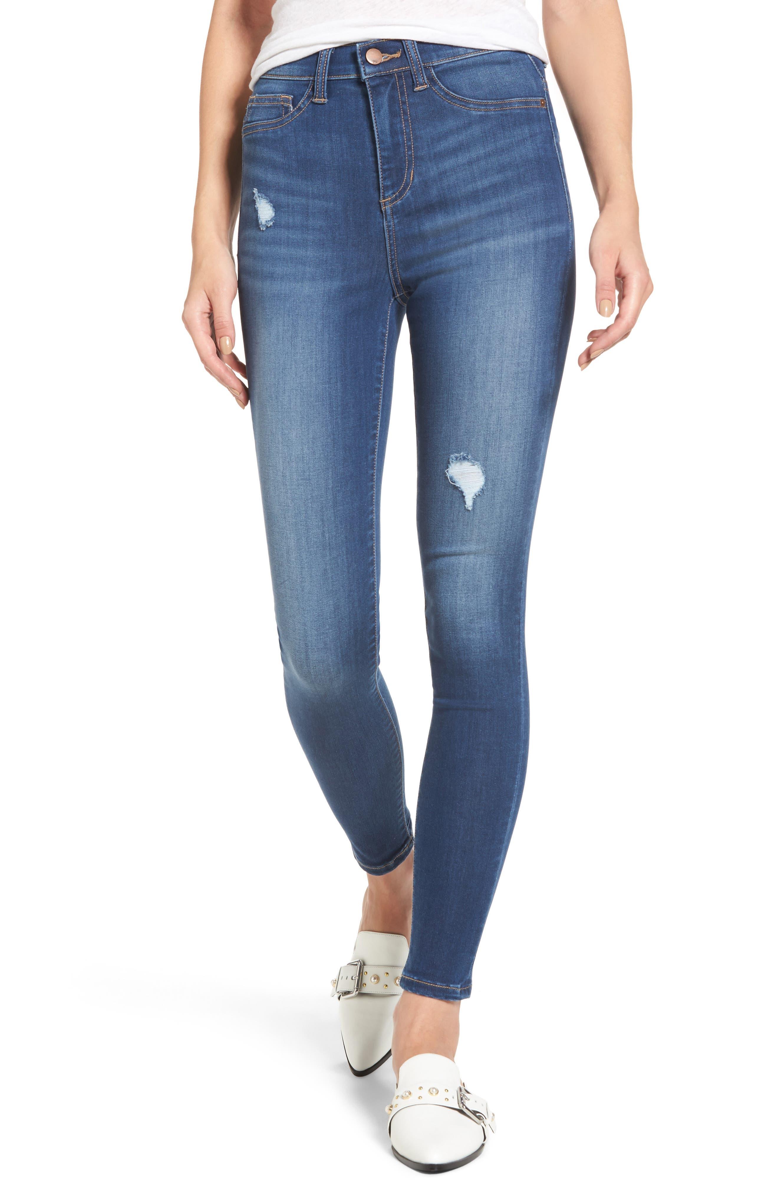 Alternate Image 1 Selected - SP Black High Waist Skinny Jeans