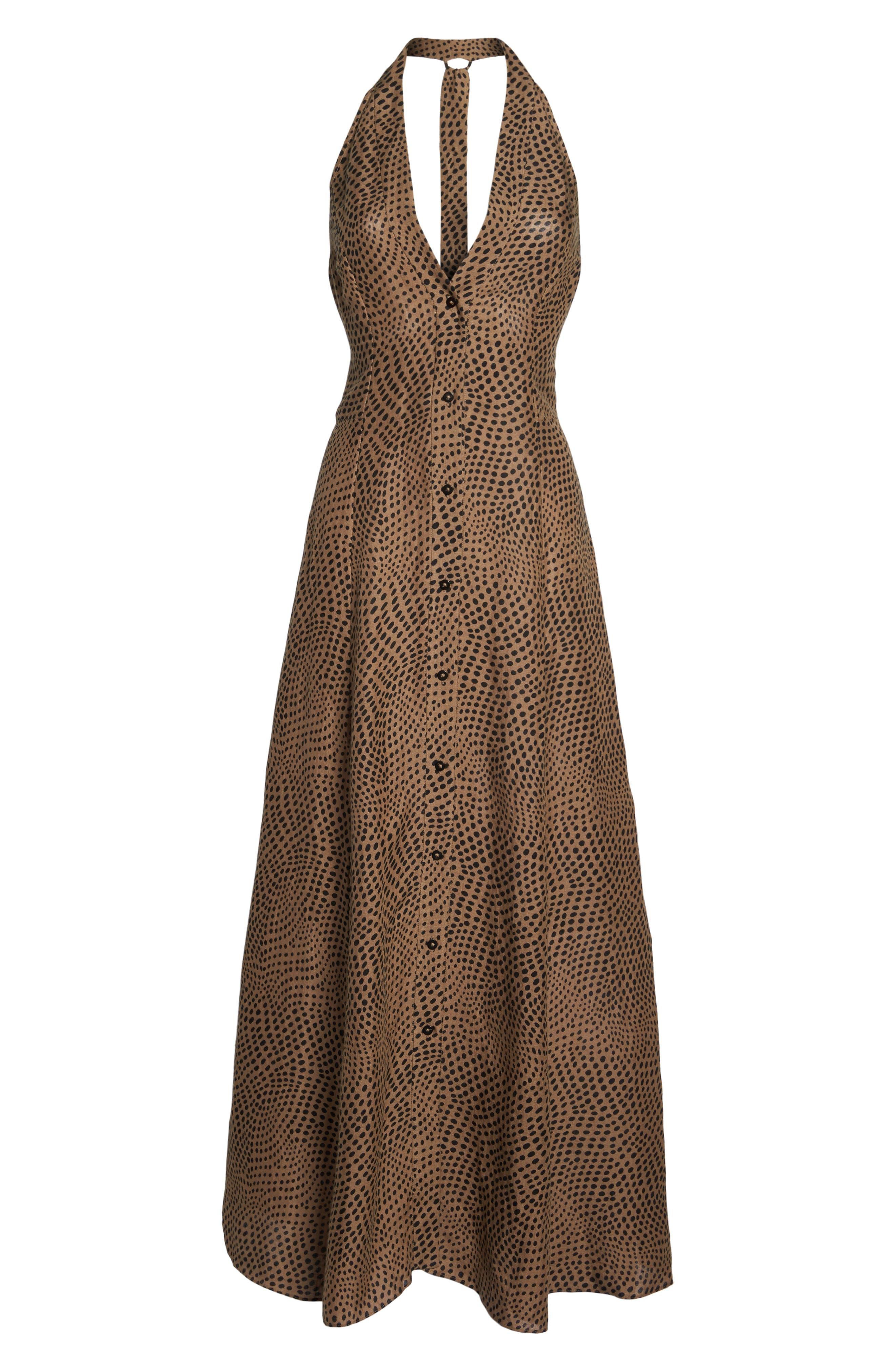 Sleeveless Cover-Up Dress,                             Alternate thumbnail 6, color,                             Easton Dot Clay