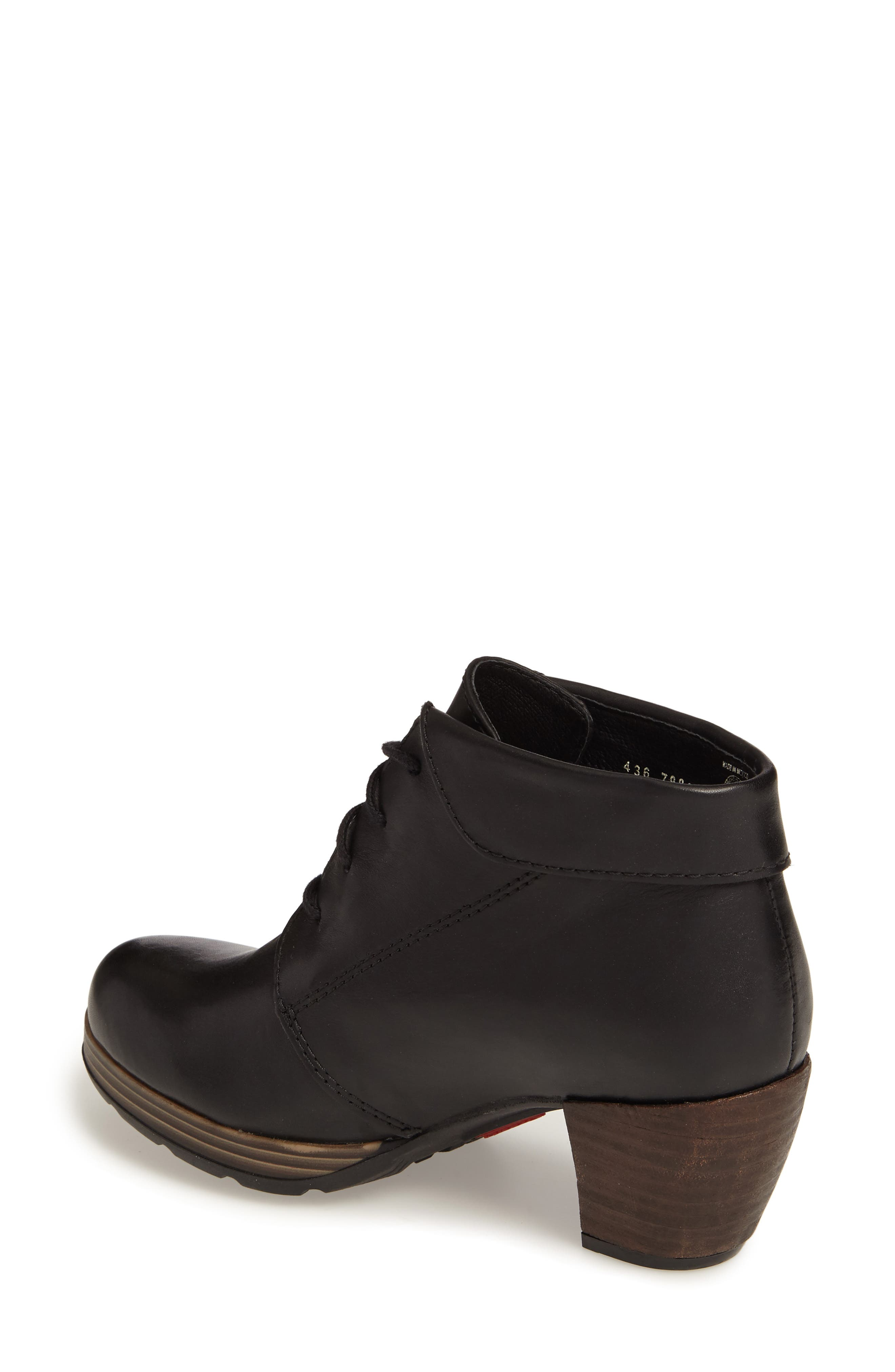 Jacquerie Lace-Up Bootie,                             Alternate thumbnail 2, color,                             Black Leather