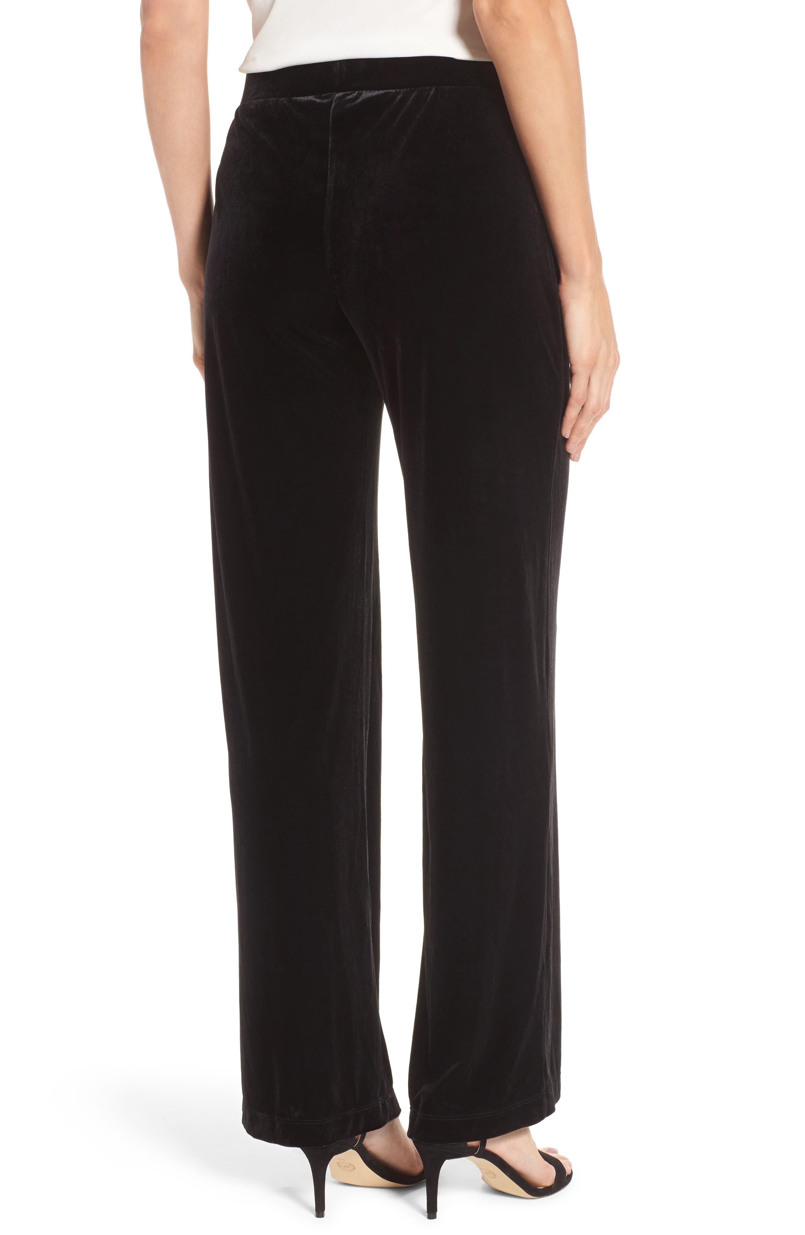 Velvet Pants,                             Alternate thumbnail 2, color,                             Rich Black