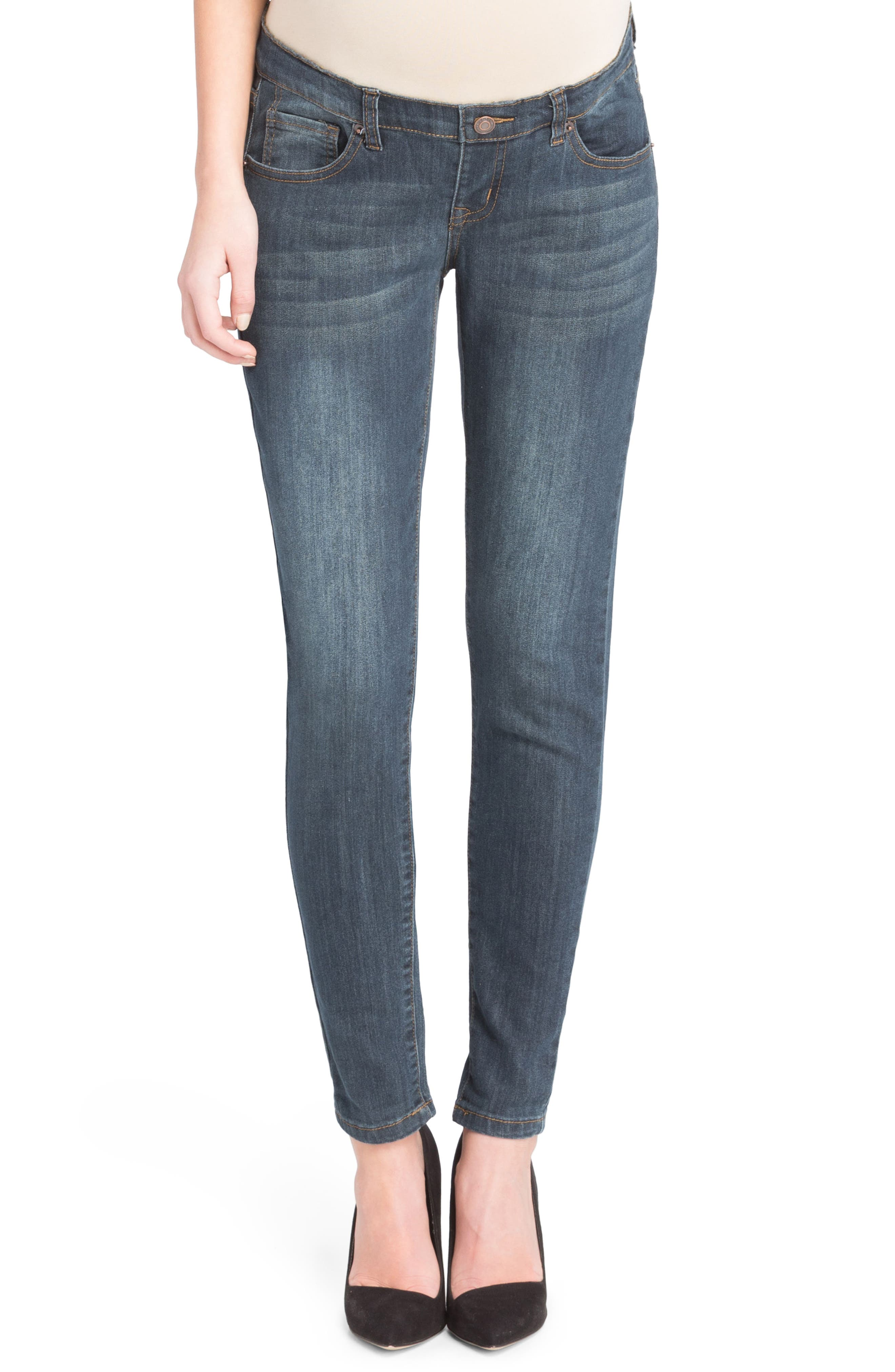 Skinny Maternity Jeans,                         Main,                         color, Medium Wash