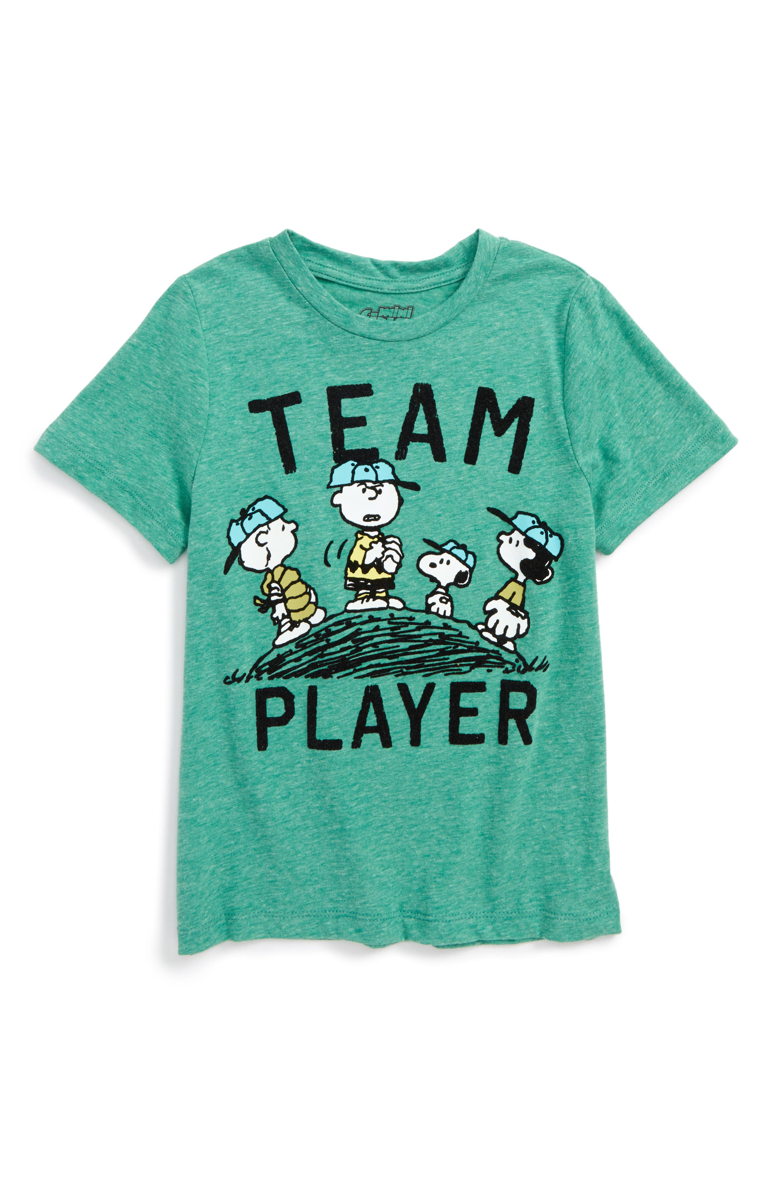 Mighty Fine x Peanuts® Team Player T-Shirt (Toddler Boys & Little Boys)