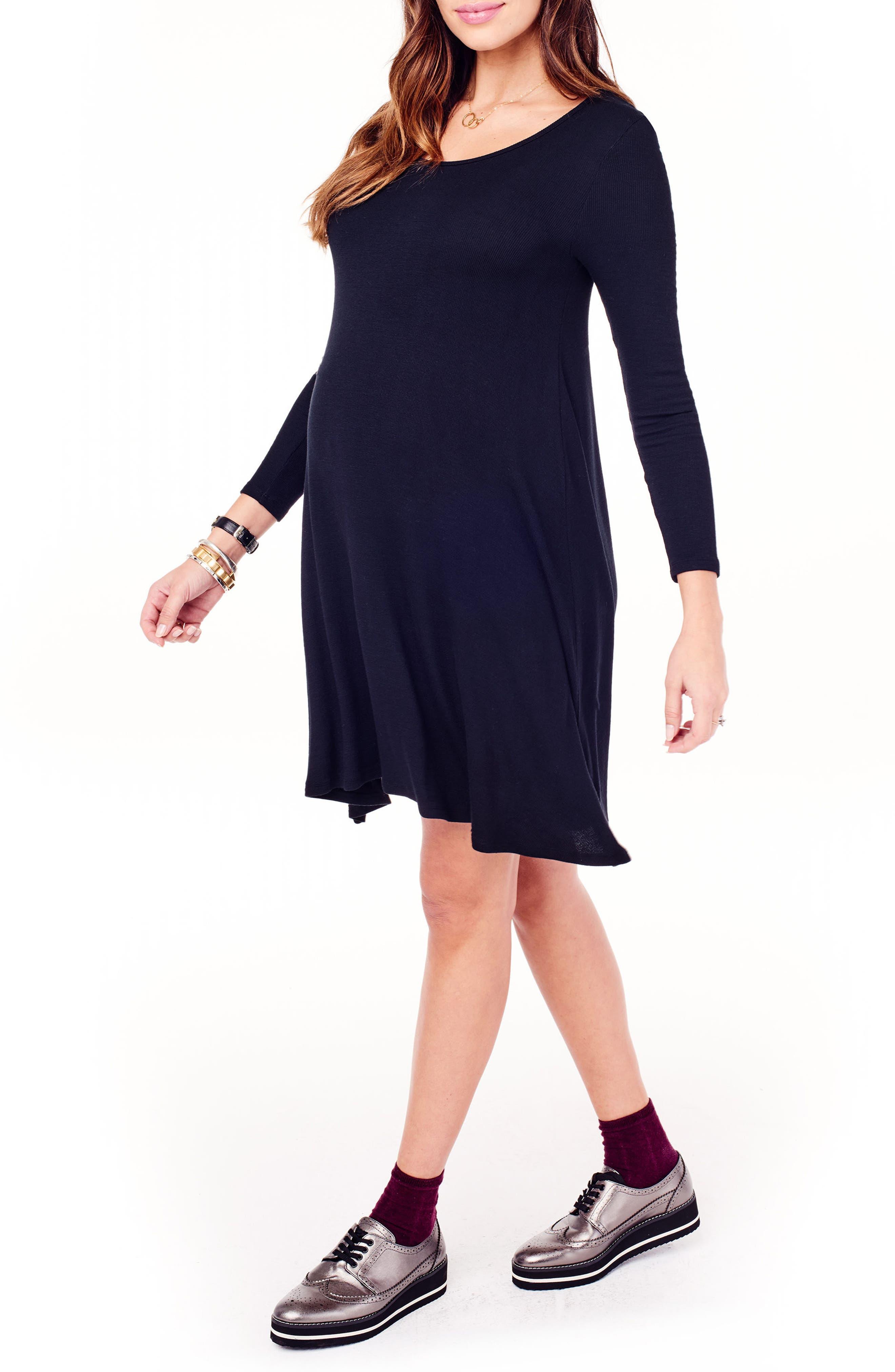 Alternate Image 3  - Ingrid & Isabel® Maternity Trapeze Dress