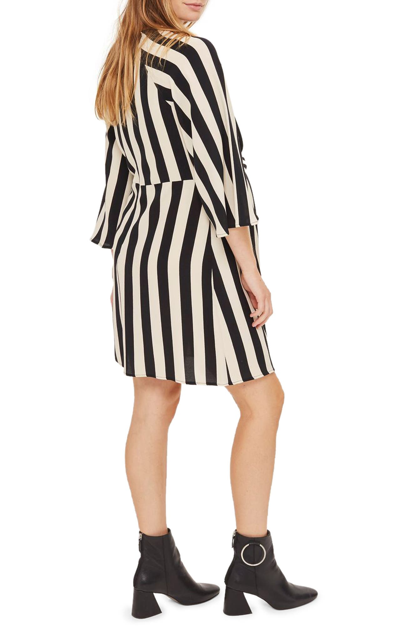 Alternate Image 3  - Topshop Humbug Stripe Knot Maternity Dress