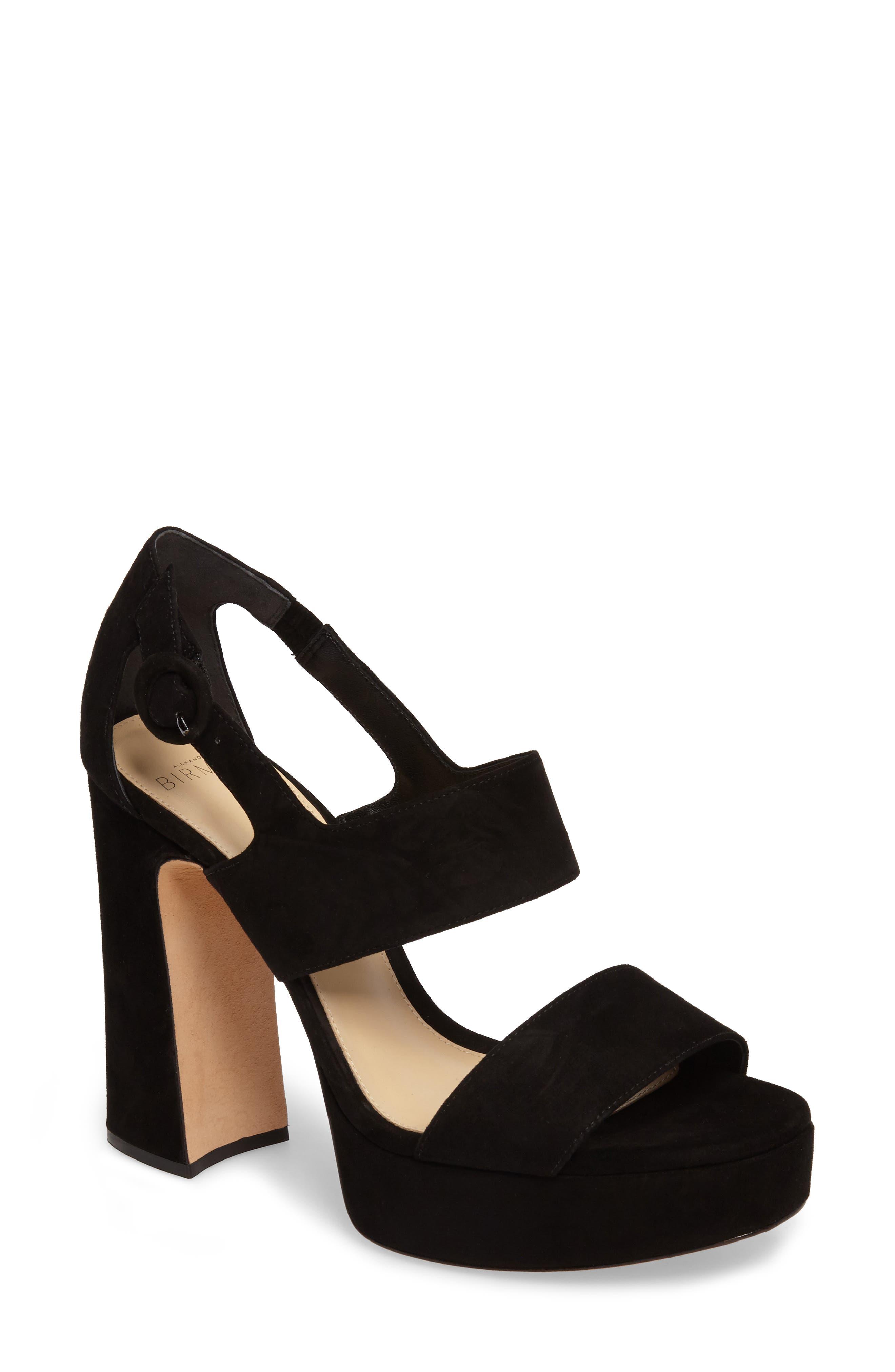 Elouise Platform Sandal,                         Main,                         color, Black