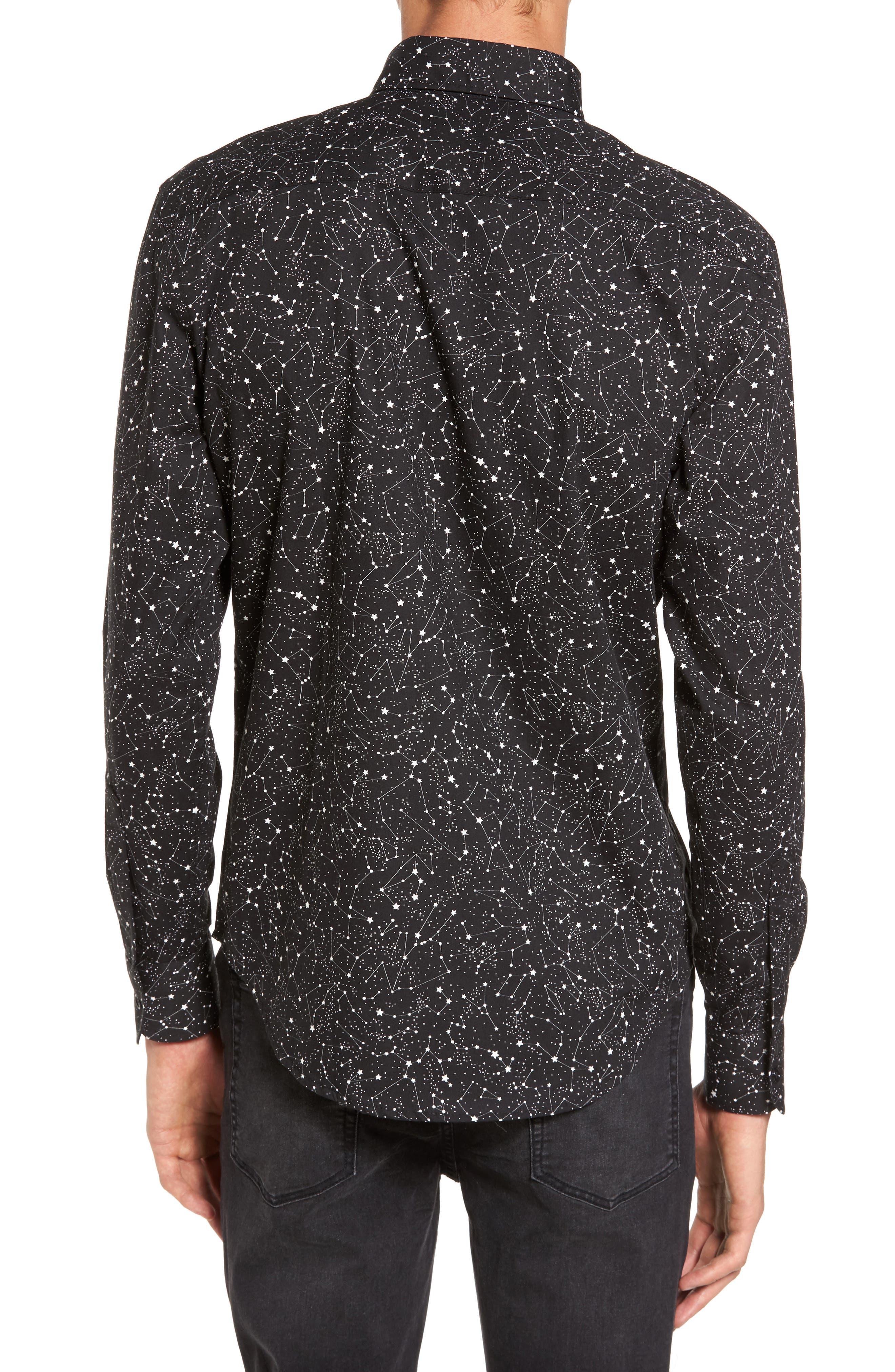 Constellations Shirt,                             Alternate thumbnail 2, color,                             Black