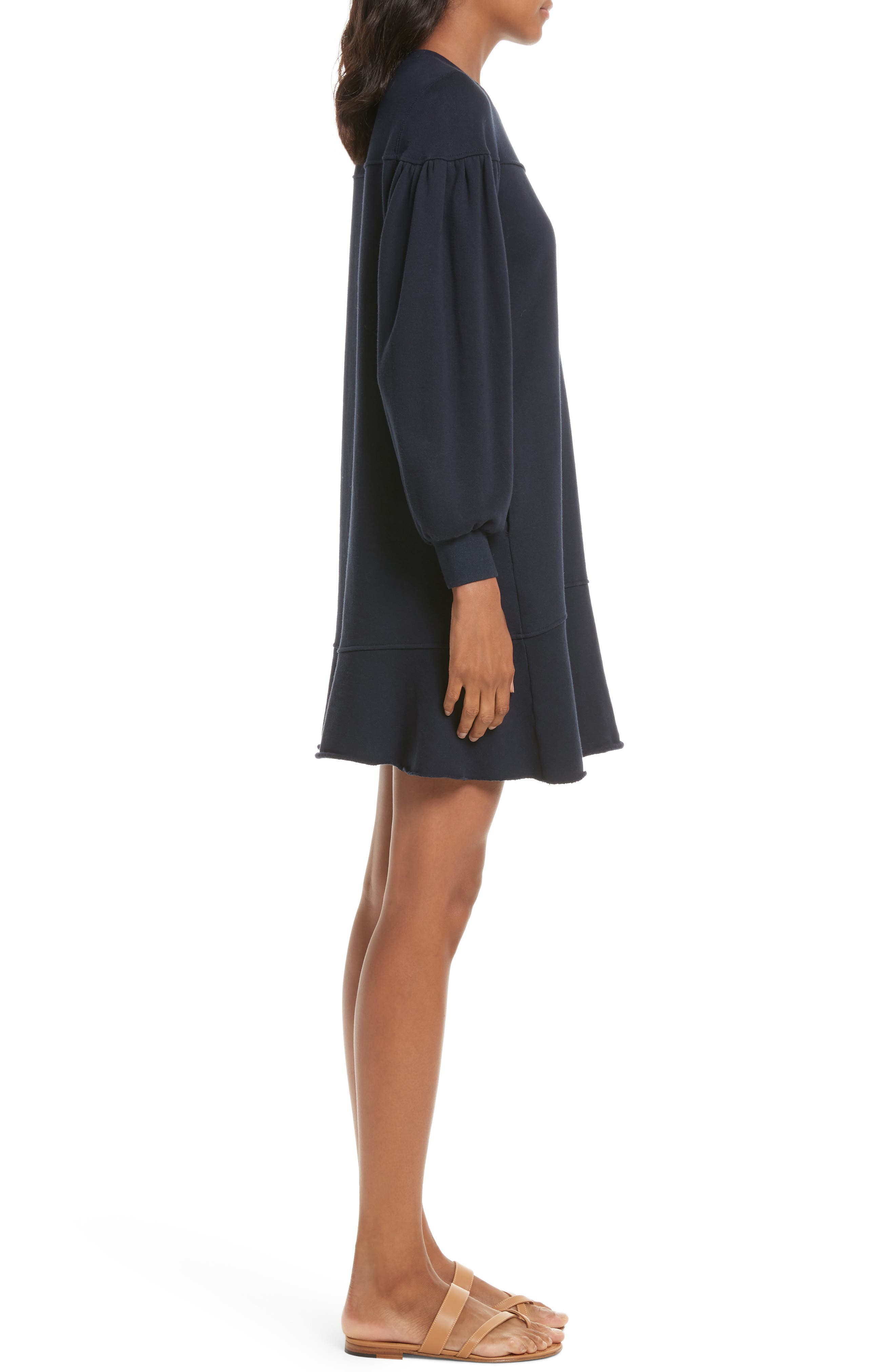 Alternate Image 3  - La Vie Rebecca Taylor Long Sleeve Fleece Dress