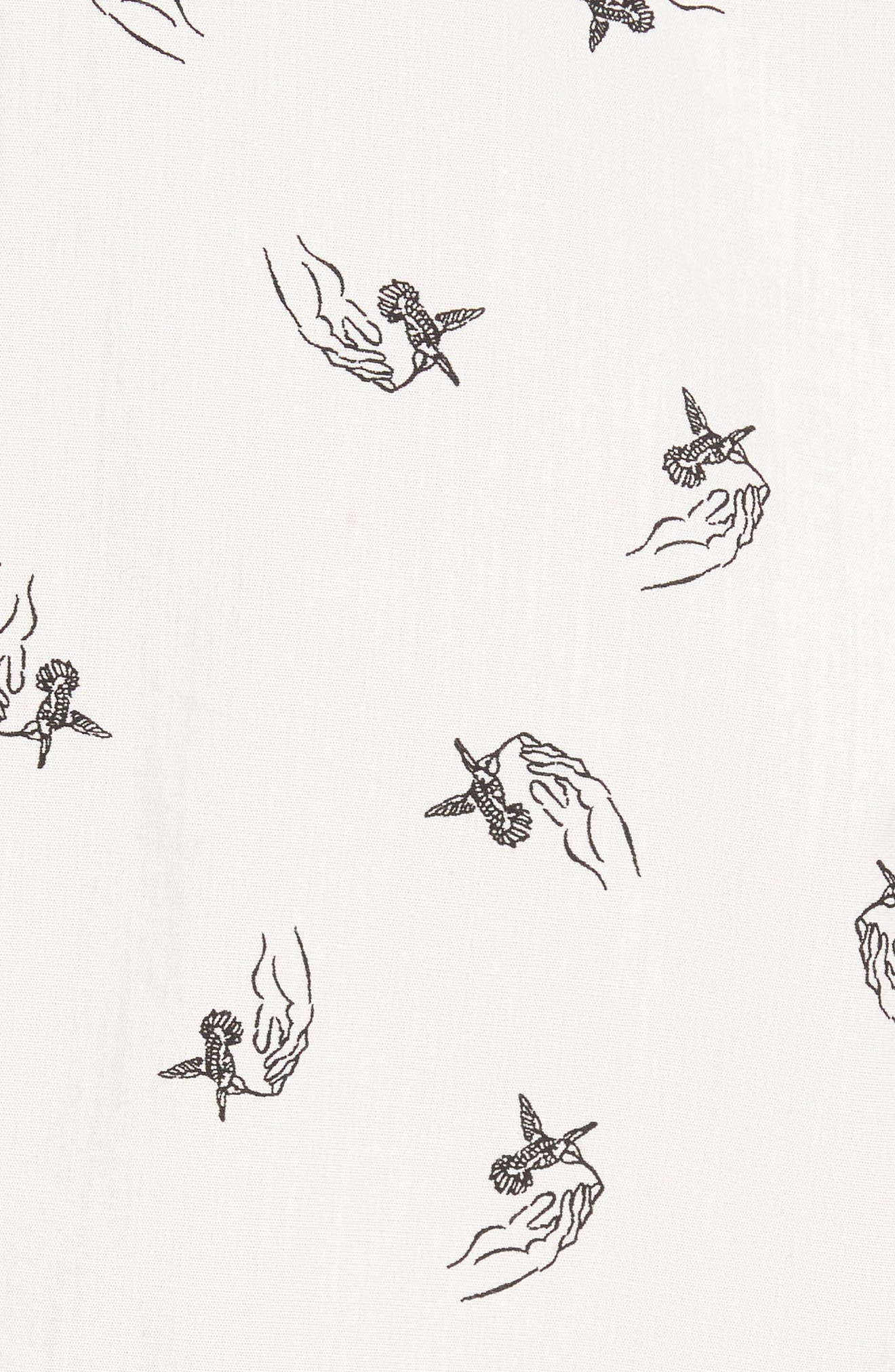 x Kevin Long Hummingbird Woven Shirt,                             Alternate thumbnail 5, color,                             Antique White