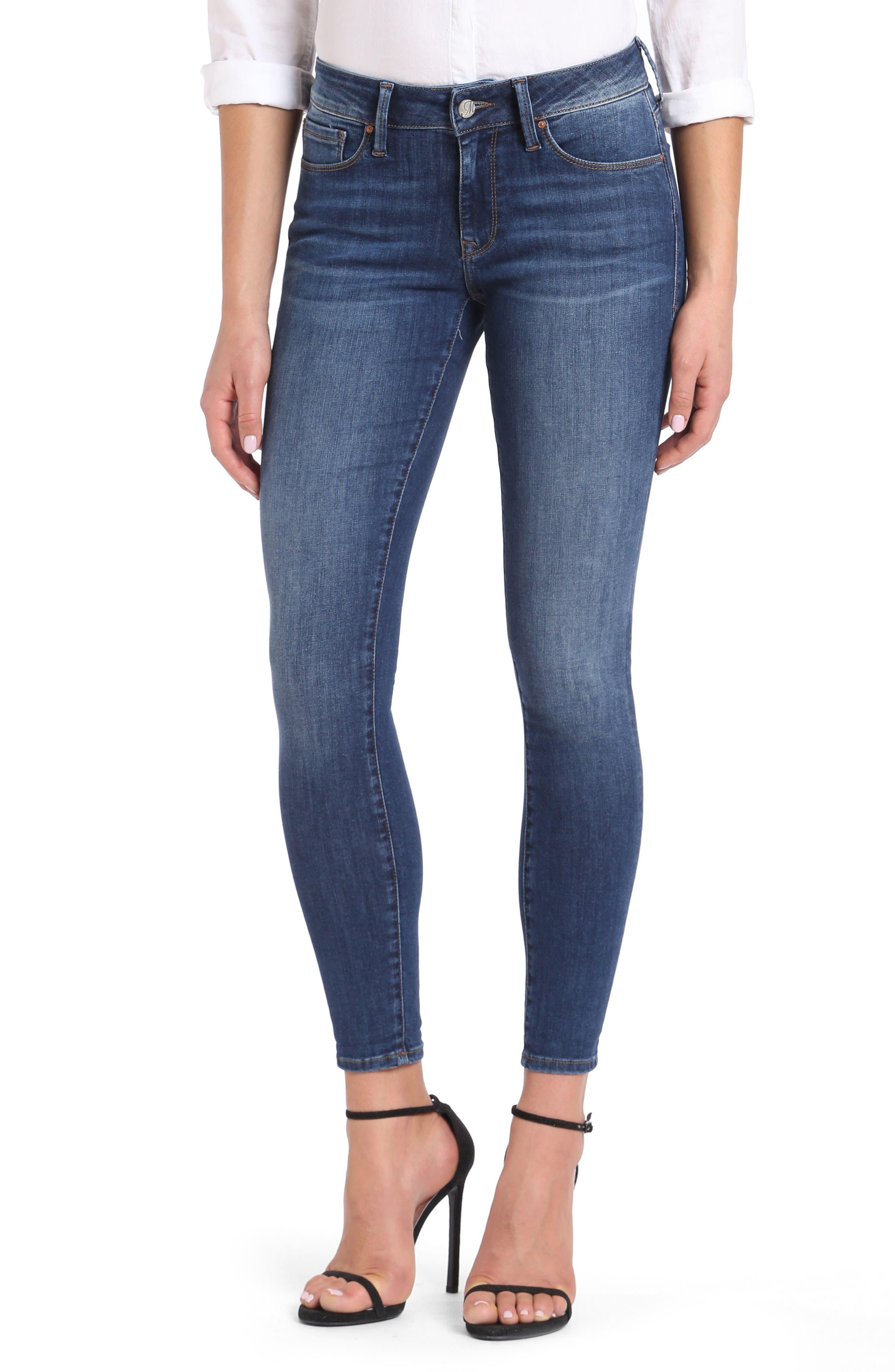 Alexa Ankle Skinny Jeans,                         Main,                         color, Dark Indigo Tribeca