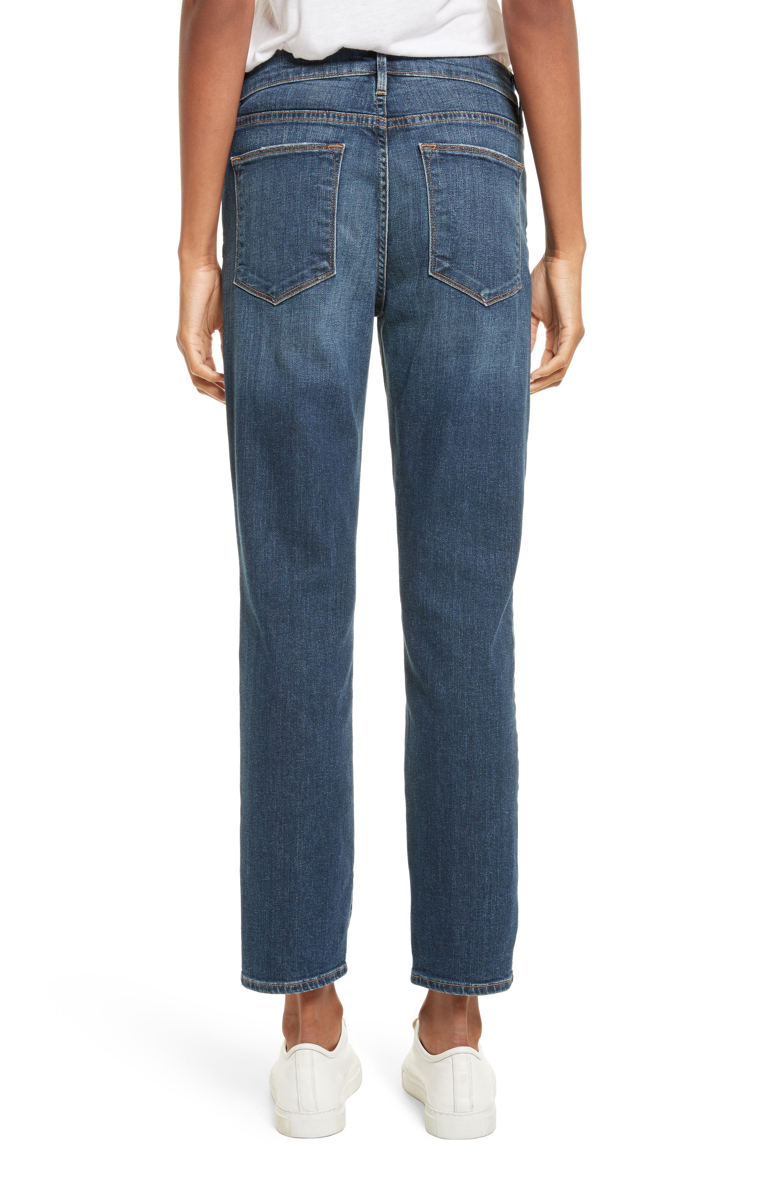 Alternate Image 3  - FRAME Le High Straight High Rise Jeans (Randolph)
