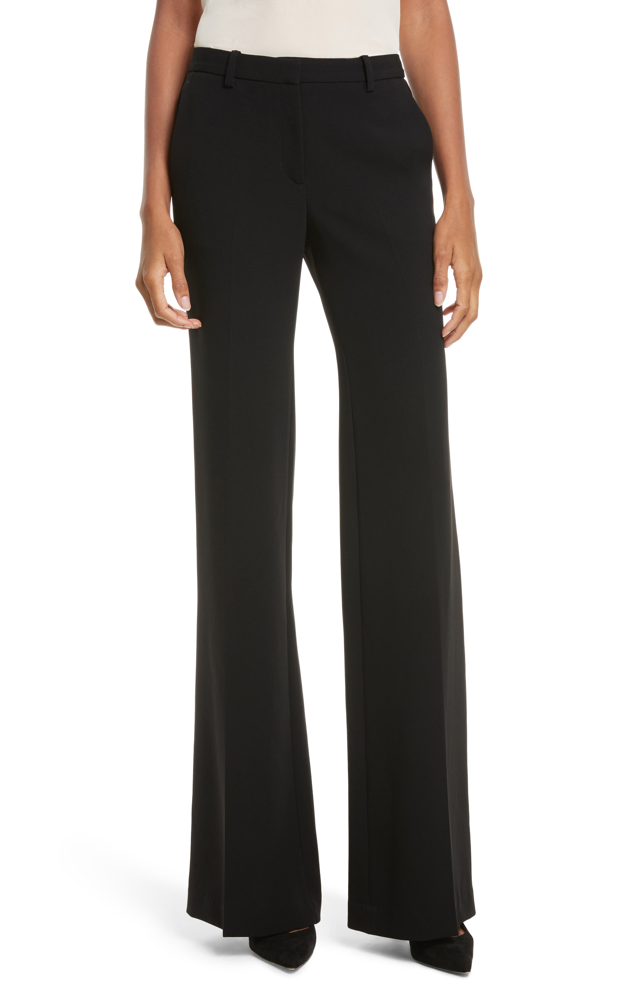 Demitria Admiral Crepe Pants,                         Main,                         color, Black