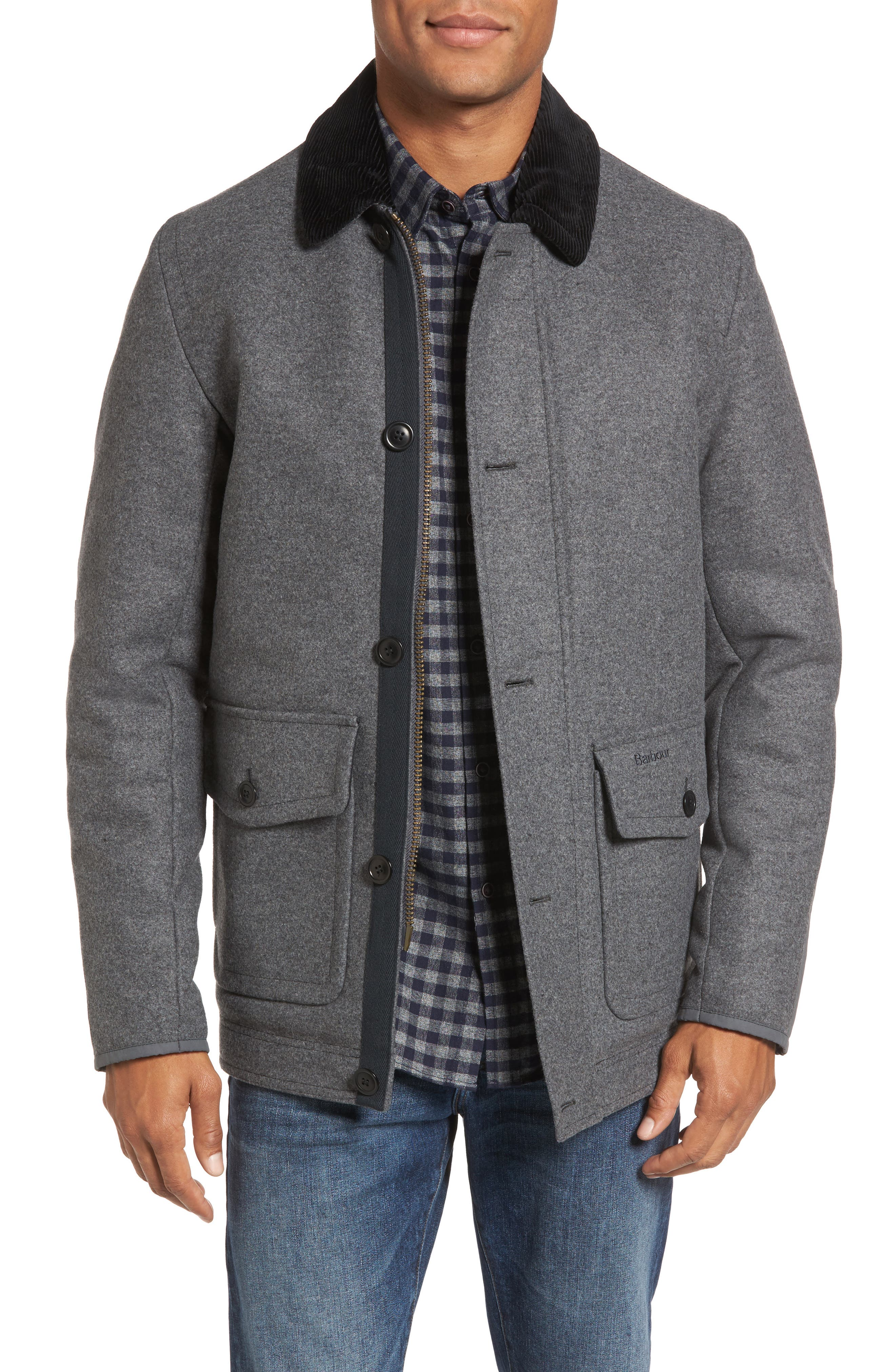 Chingle Wool Blend Deck Jacket,                         Main,                         color, Grey