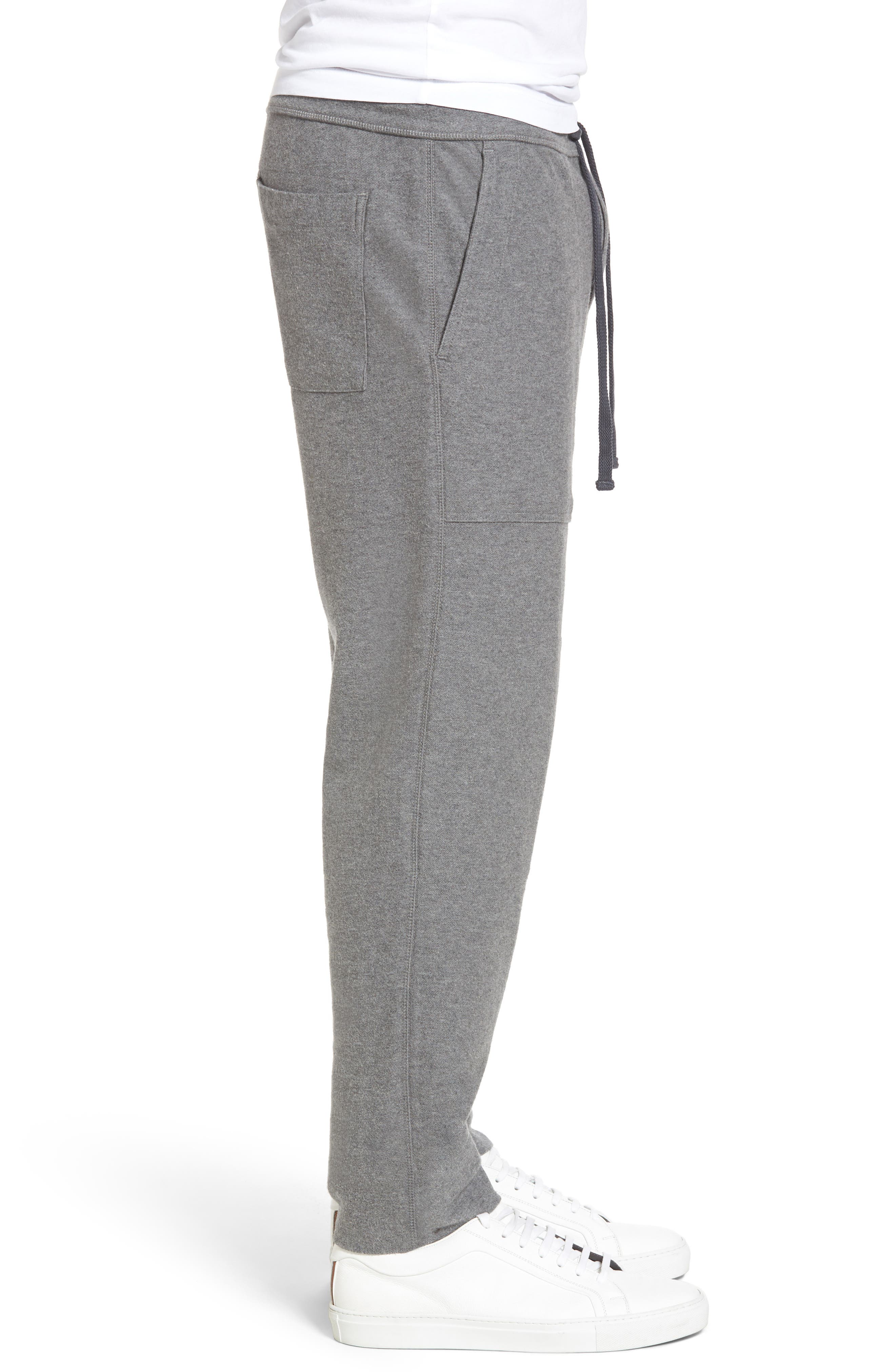 Heathered Knit Lounge Pants,                             Alternate thumbnail 3, color,                             Heather Grey