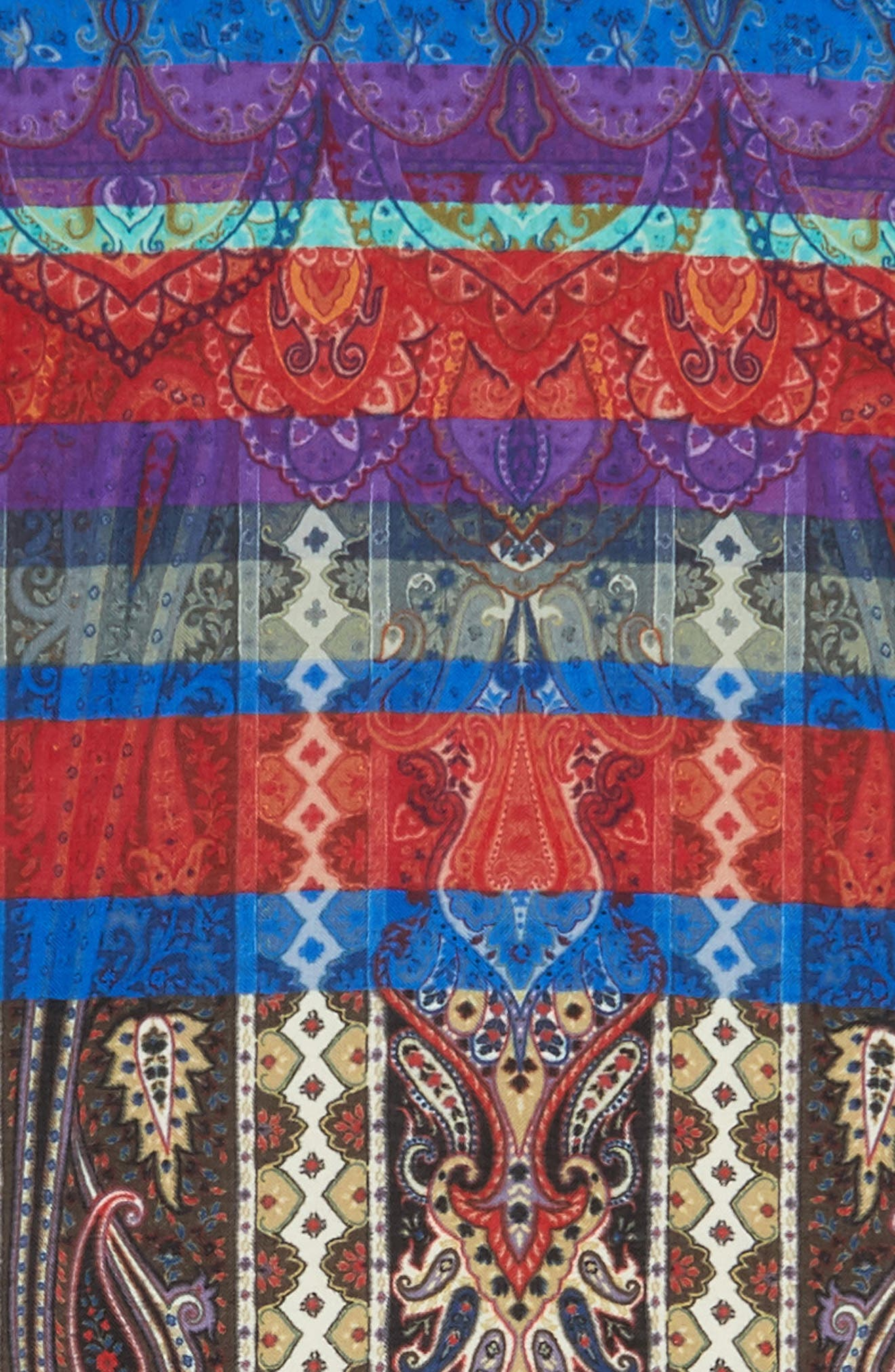 Cashmere & Silk Scarf,                             Alternate thumbnail 4, color,                             White
