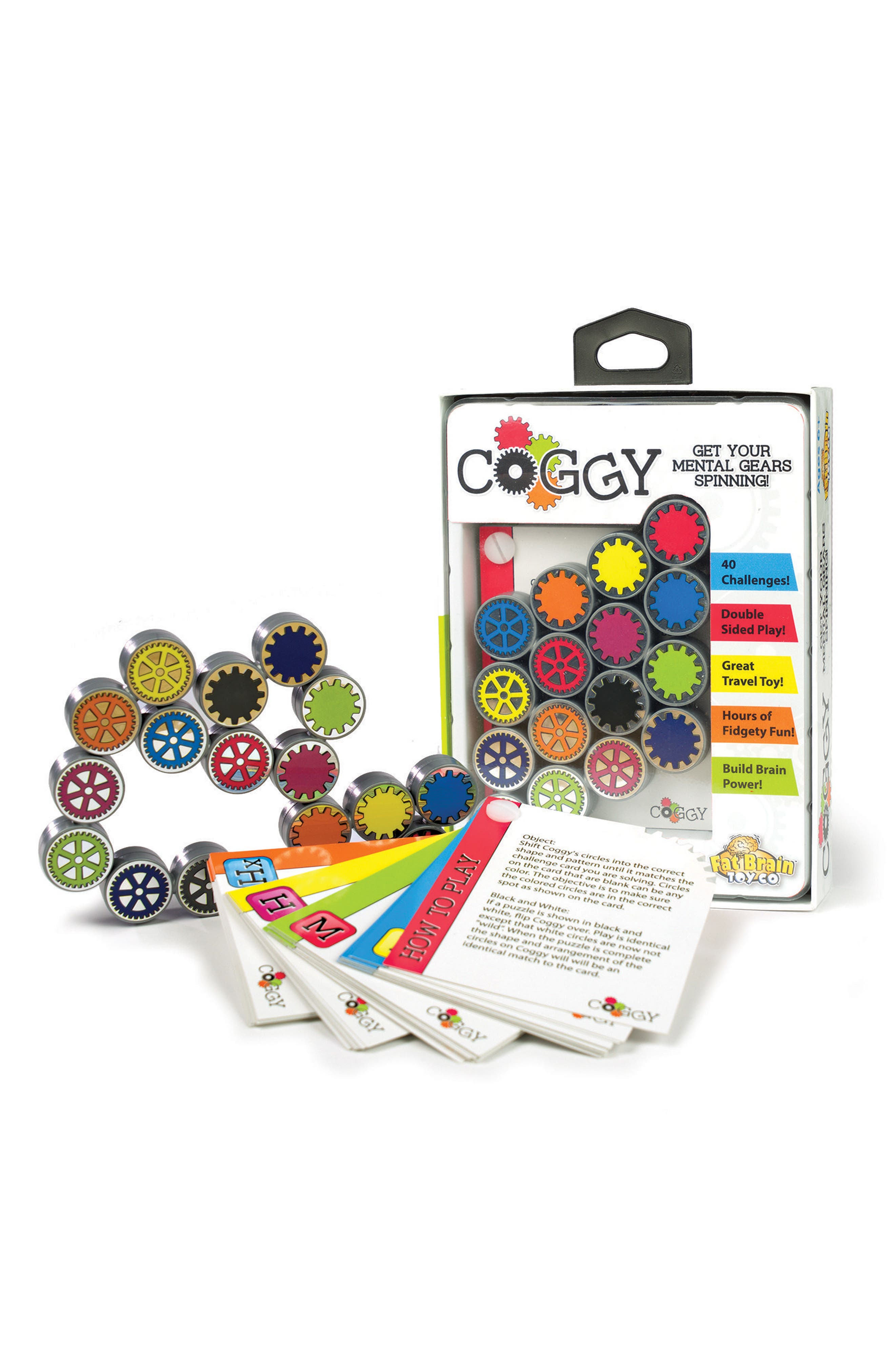 Coggy Brain Teaser Toy,                             Main thumbnail 1, color,                             White