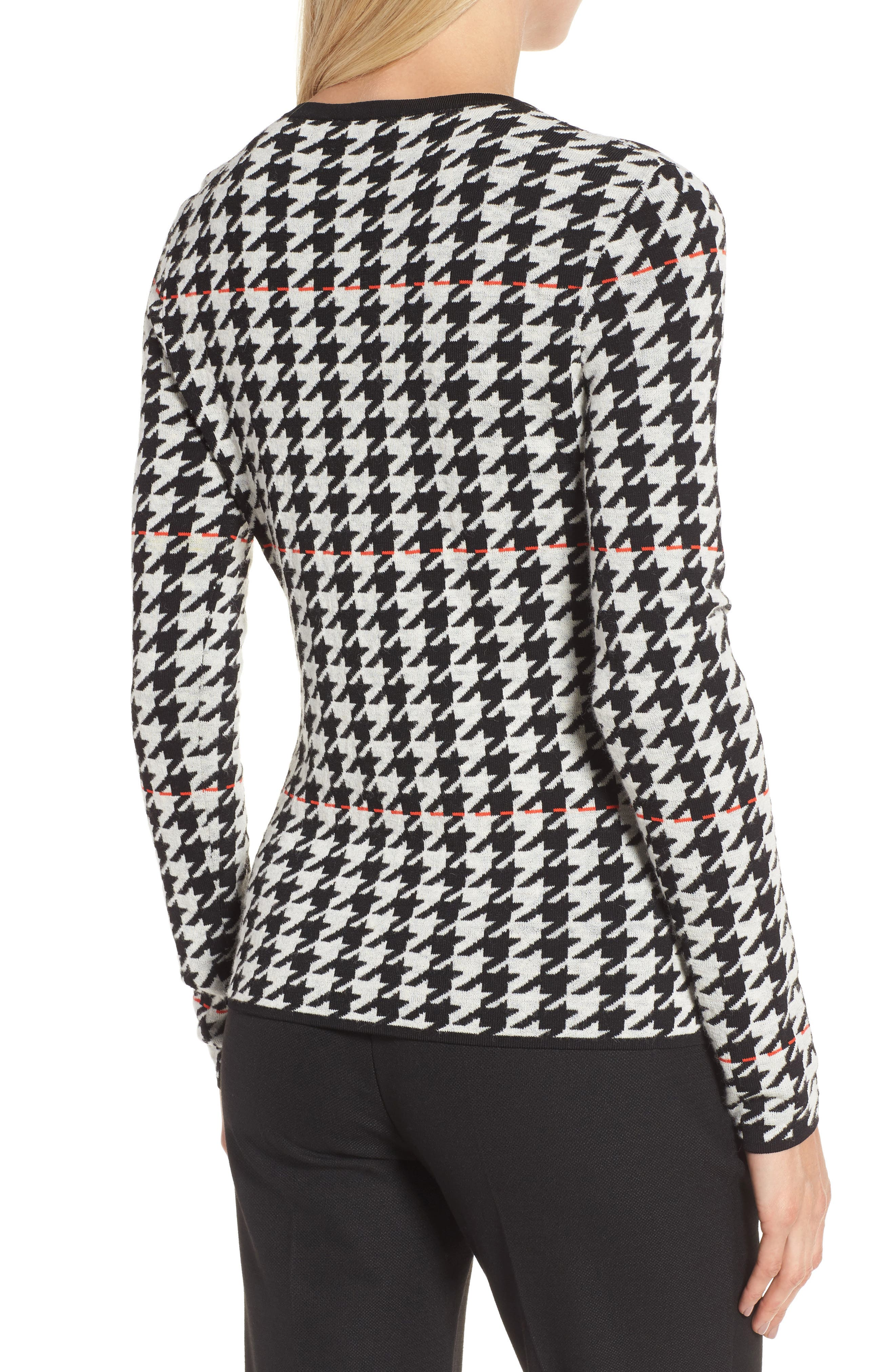 Fatma Houndstooth Sweater,                             Alternate thumbnail 2, color,                             Black Fantasy